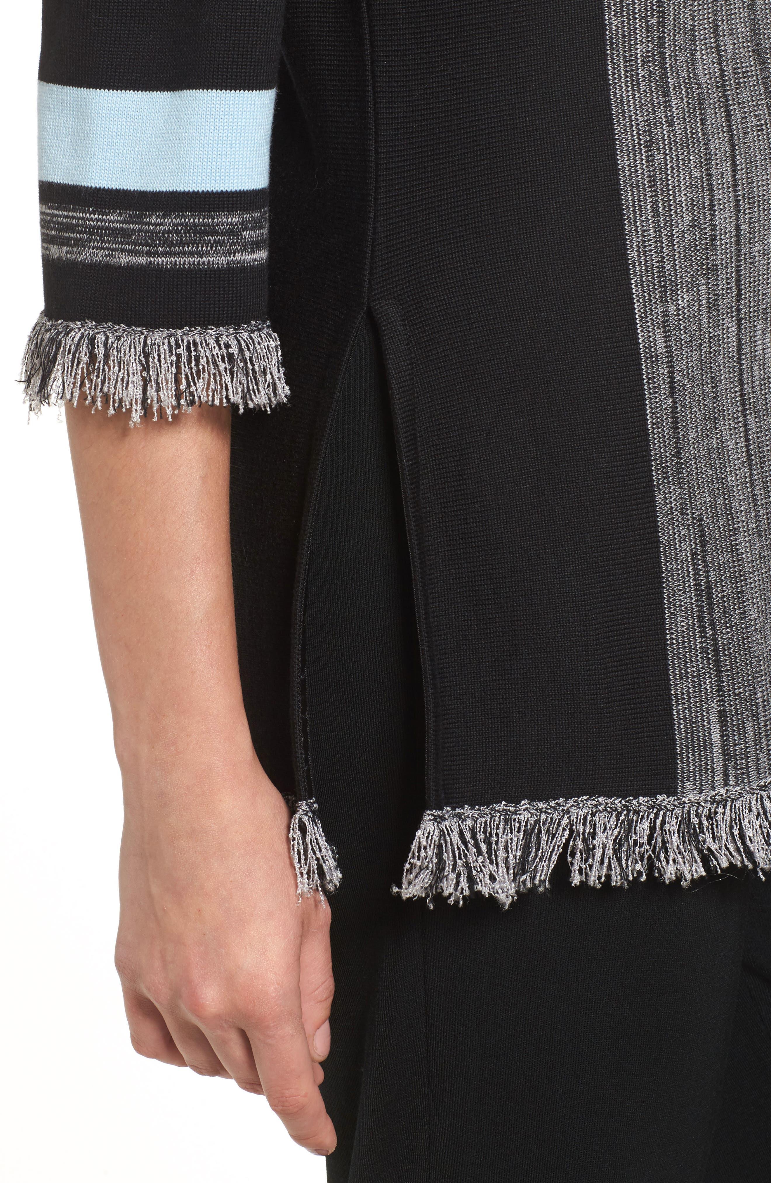 Fringe Trim Knit Tunic,                             Alternate thumbnail 4, color,                             021