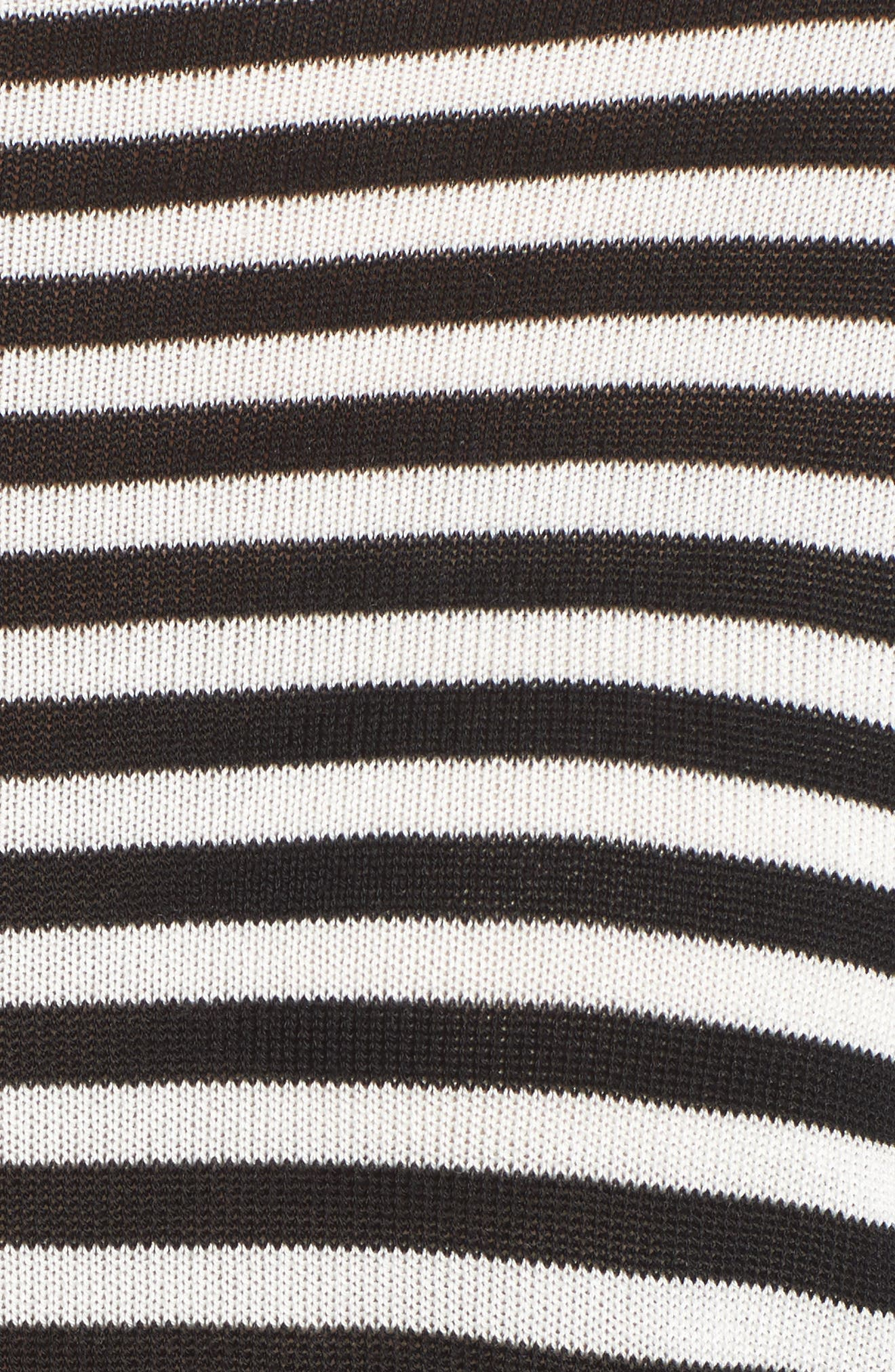 Stripe Tencel<sup>®</sup> Lyocell Knit Sweater,                             Alternate thumbnail 5, color,                             012