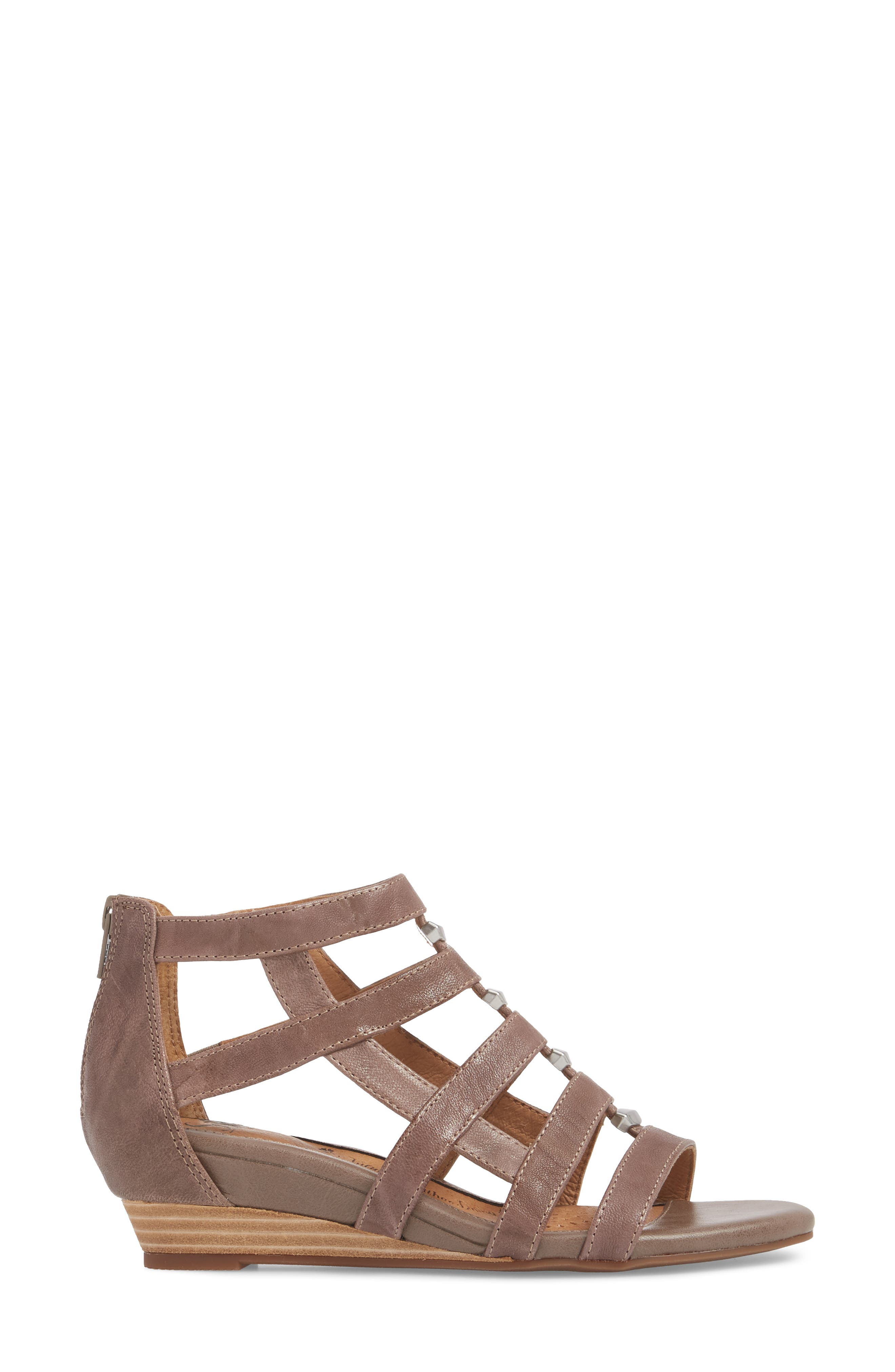 SÖFFT,                             Rio Gladiator Wedge Sandal,                             Alternate thumbnail 3, color,                             030