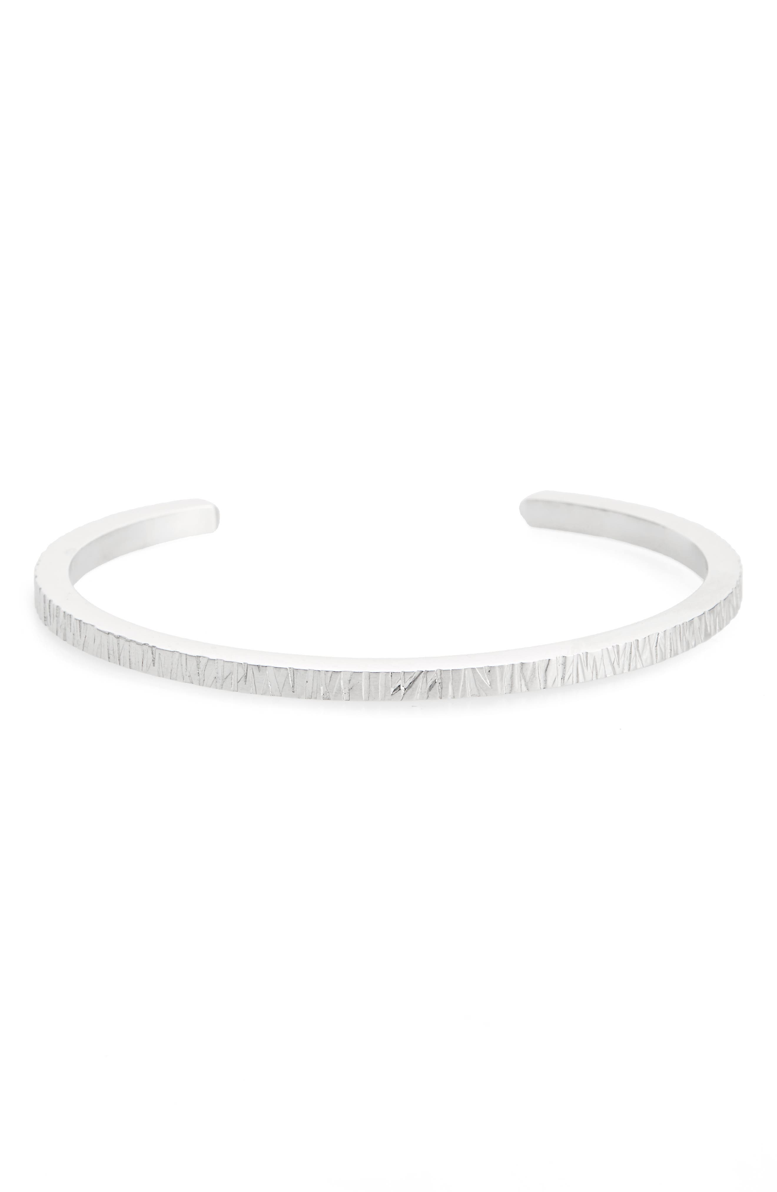 Structured Cuff Bracelet,                             Main thumbnail 1, color,                             925 STERLING SILVER