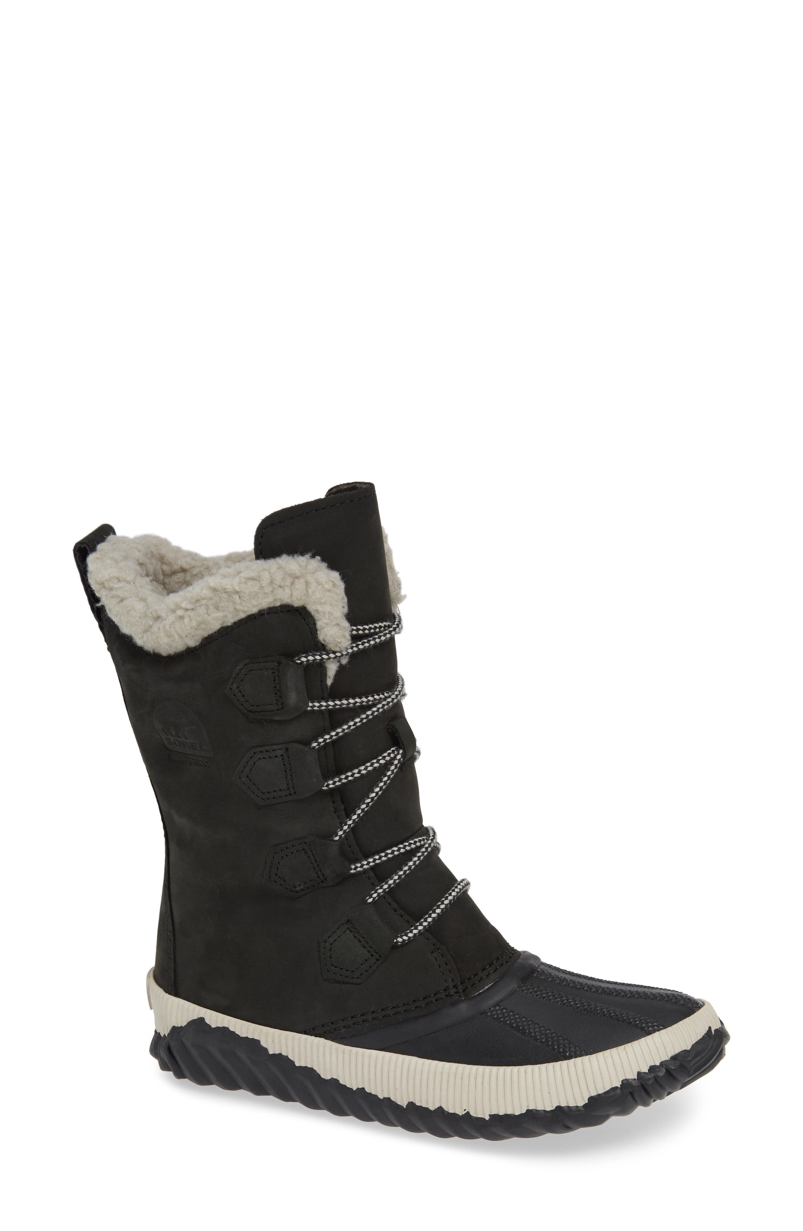 Sorel Out N About Plus Tall Waterproof Boot, Black