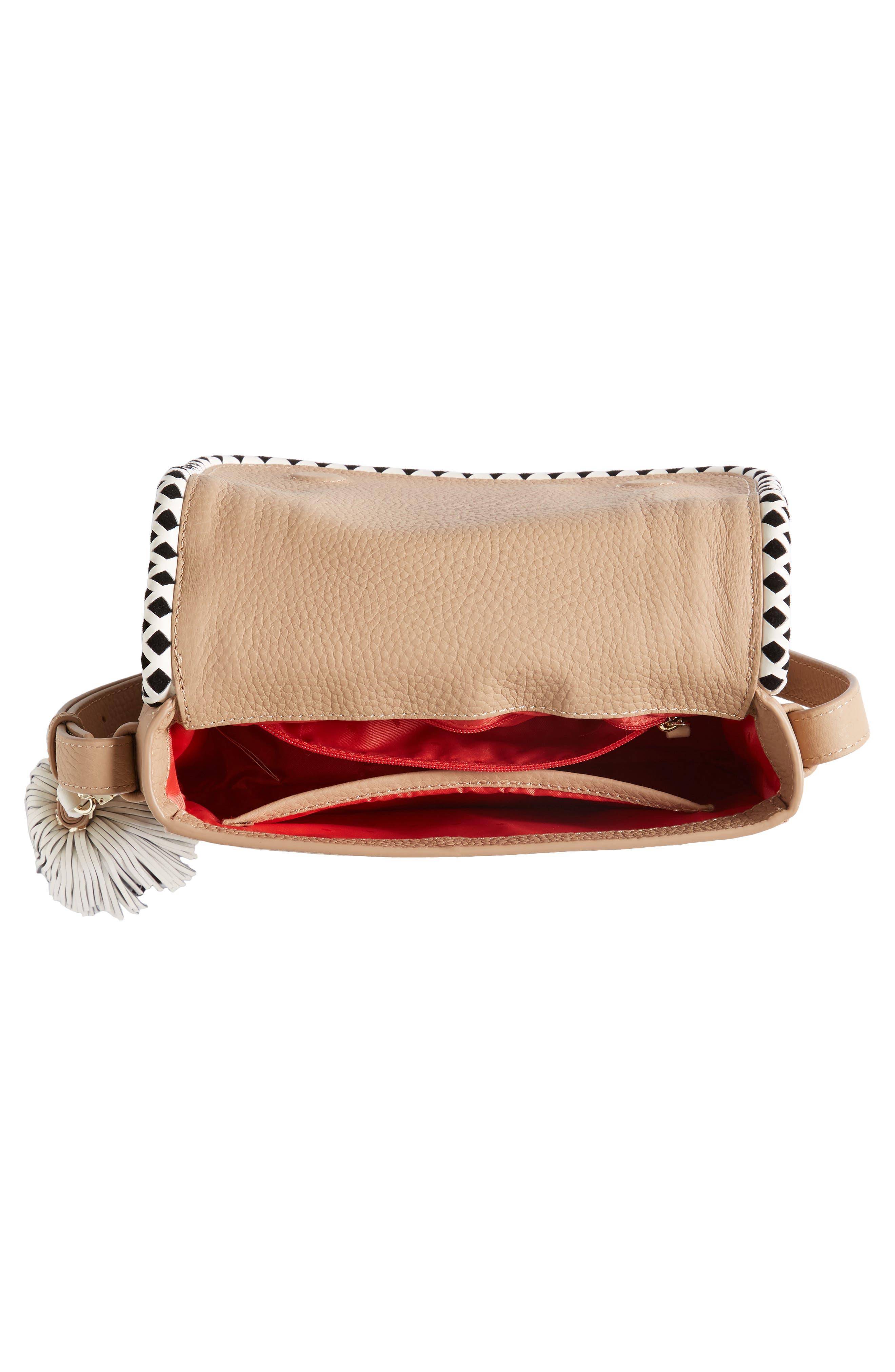 crown street - jasper leather saddle bag,                             Alternate thumbnail 4, color,                             248