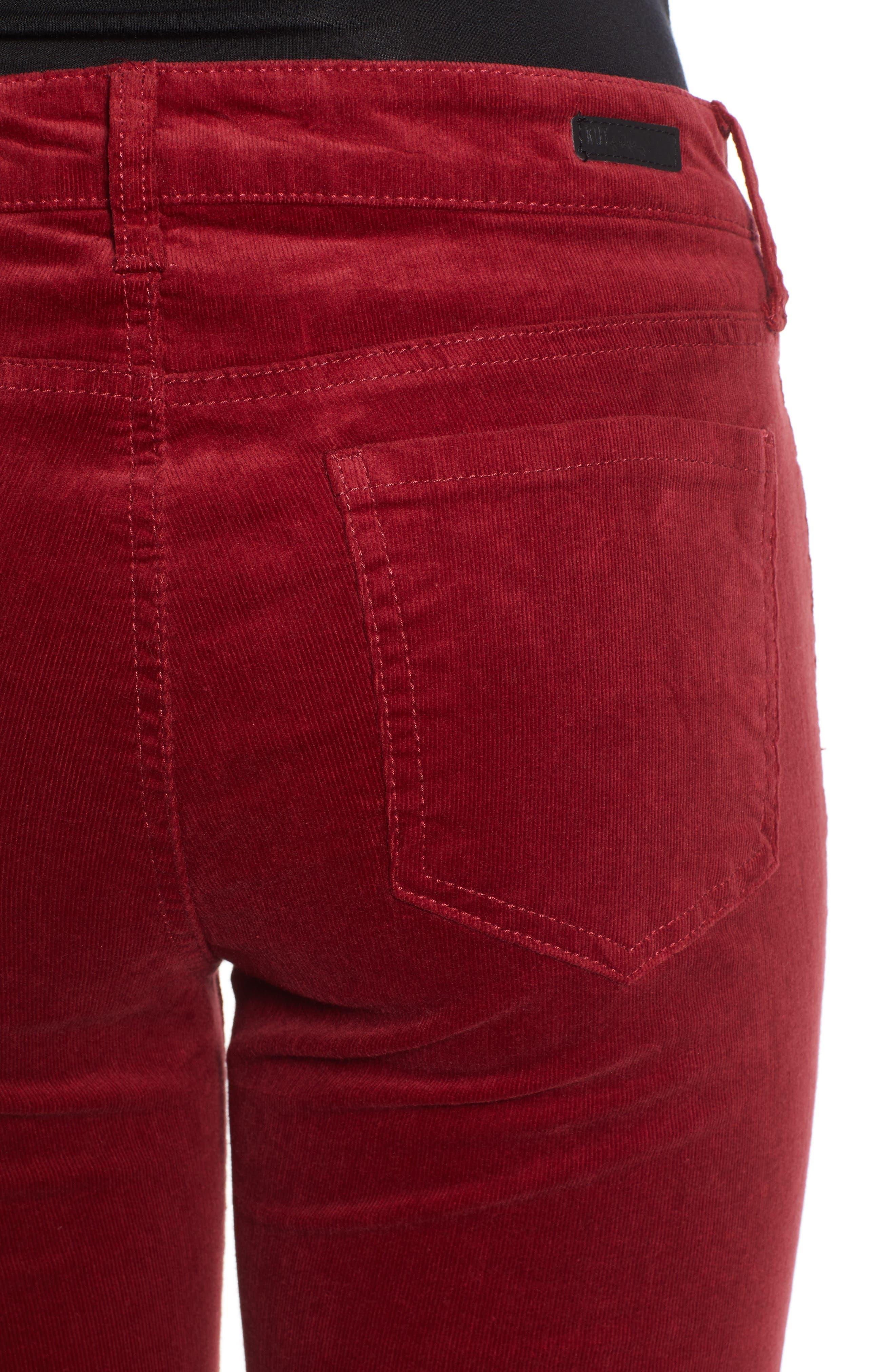 'Diana' Stretch Corduroy Skinny Pants,                             Alternate thumbnail 170, color,