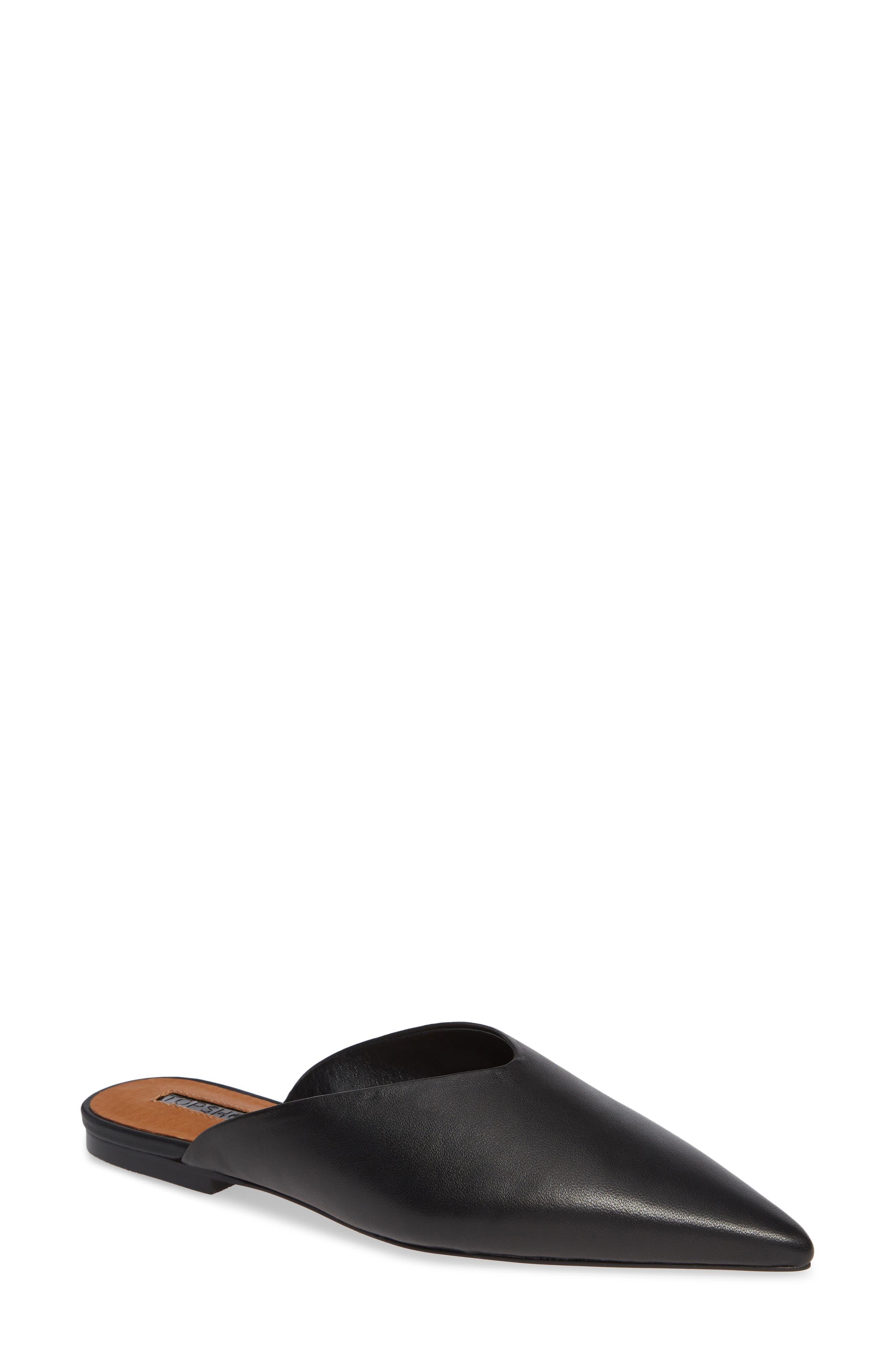 Kilo Pointy Toe Mule,                         Main,                         color, BLACK