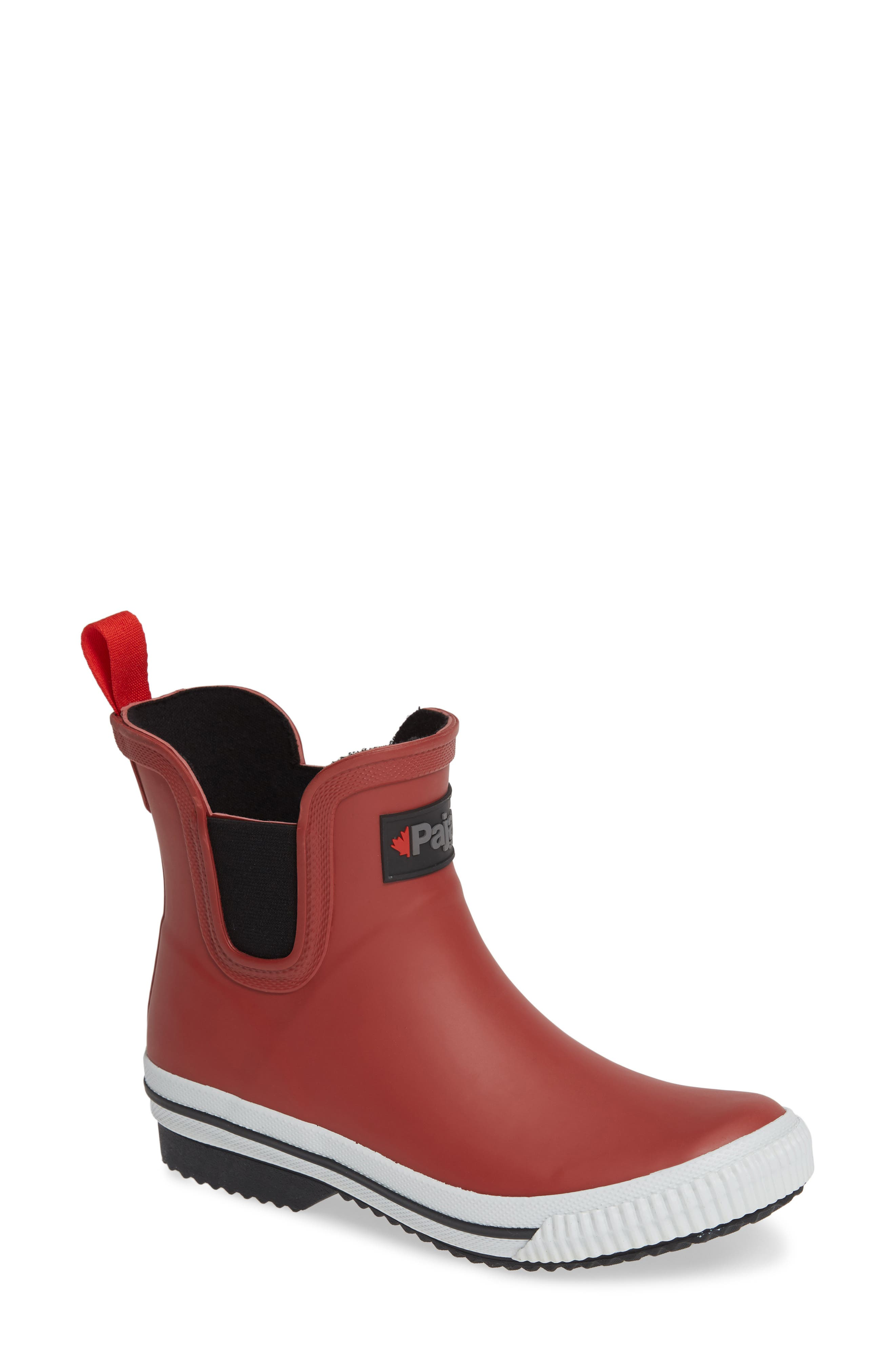 PAJAR Tina Waterproof Chelsea Rain Boot in Rust
