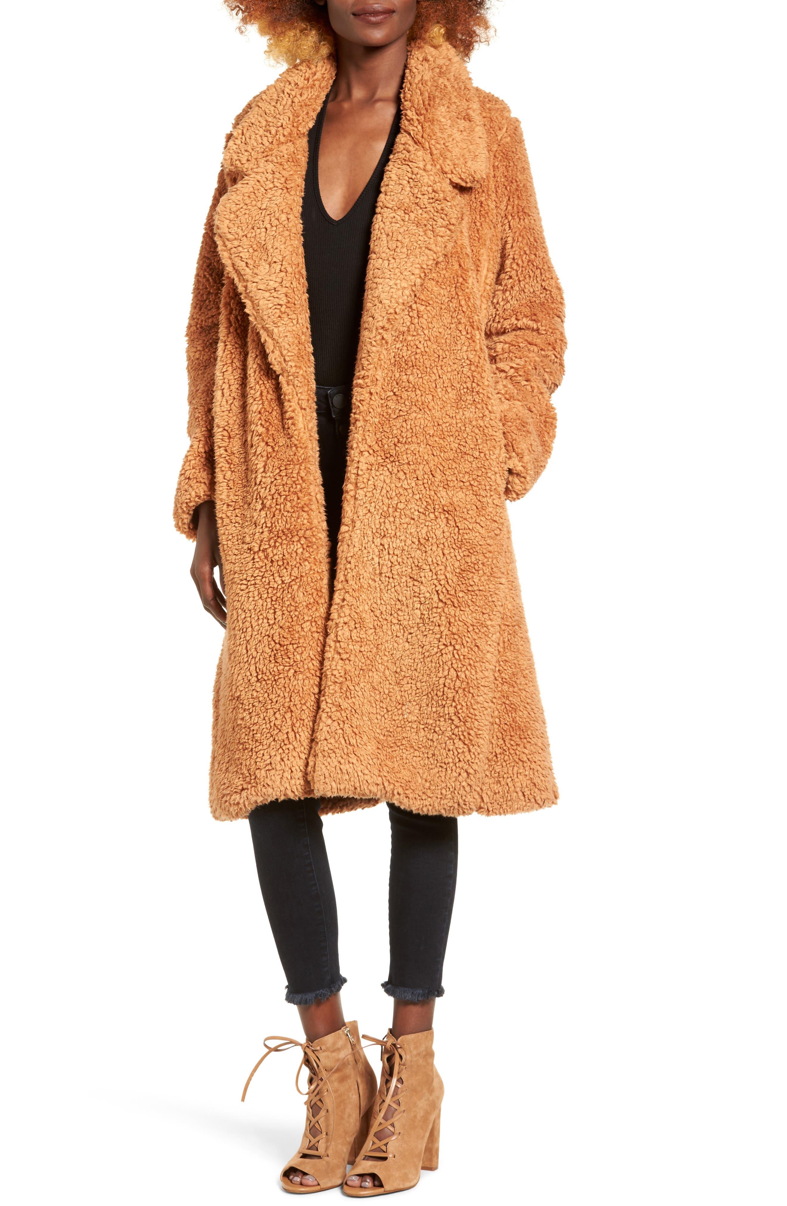 Violet Teddy Bear Coat,                             Main thumbnail 2, color,