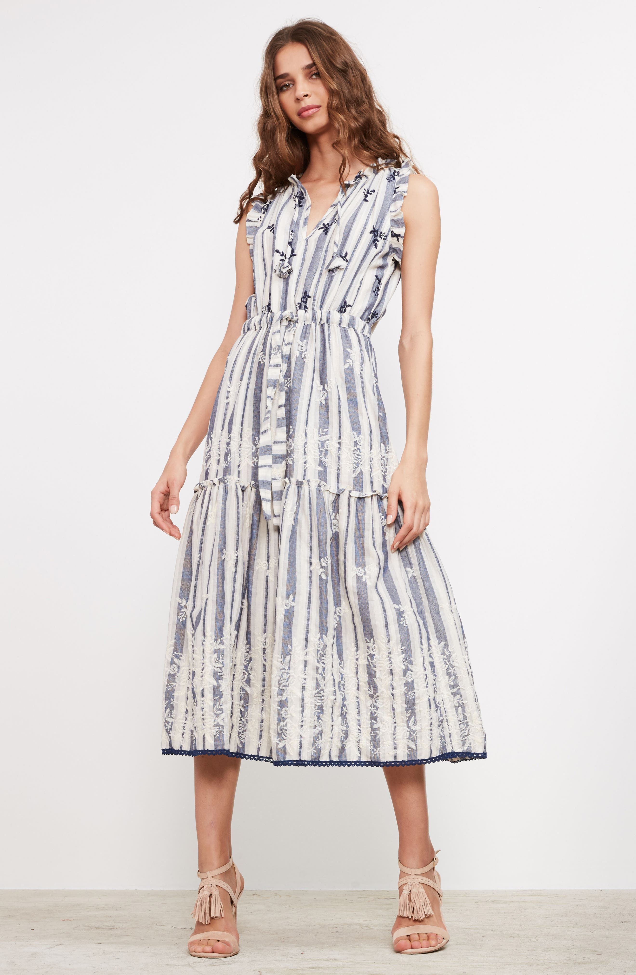 Martina Midi Dress,                             Alternate thumbnail 8, color,                             192