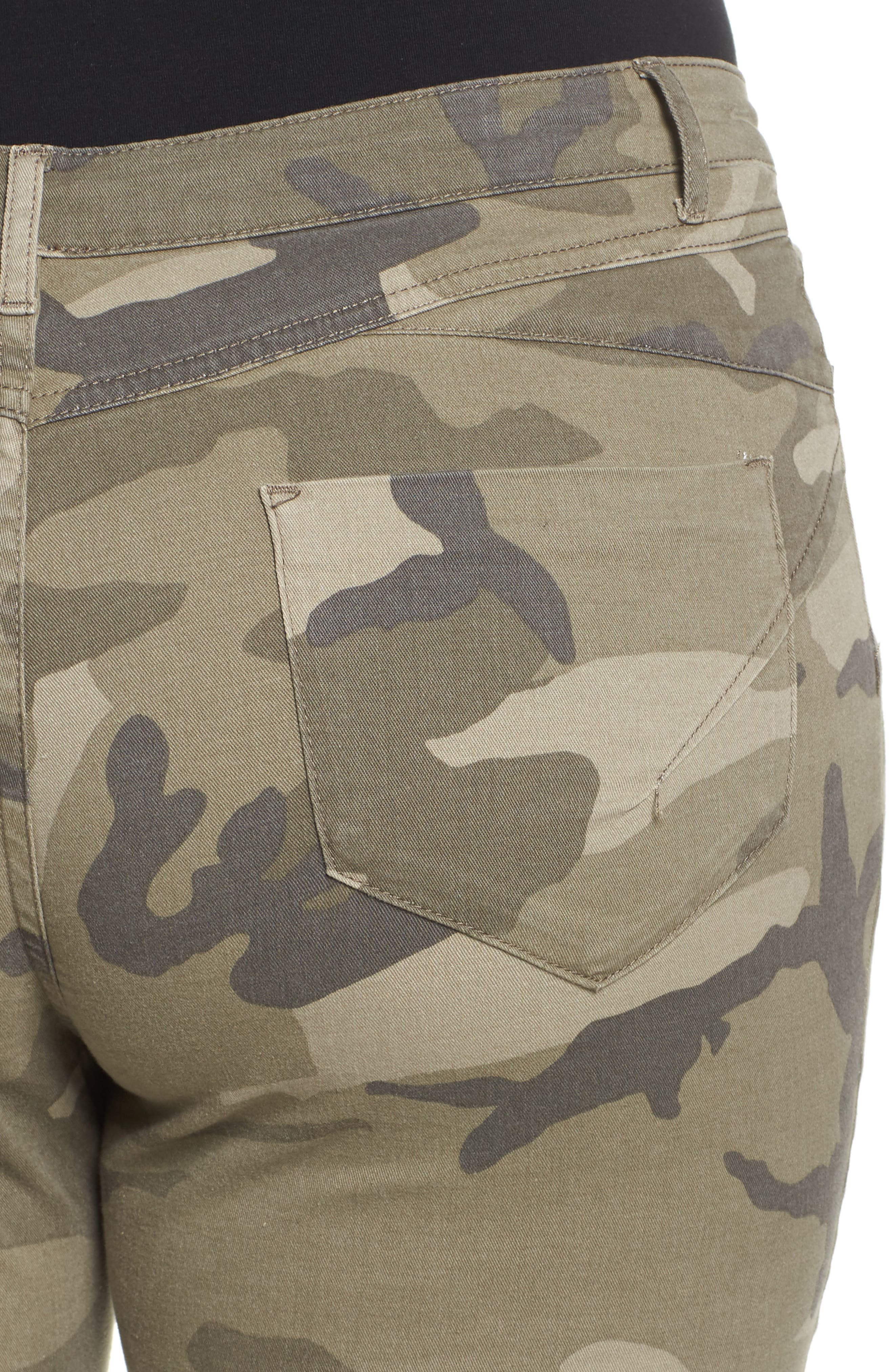 Camo Denim Pants,                             Alternate thumbnail 4, color,                             218