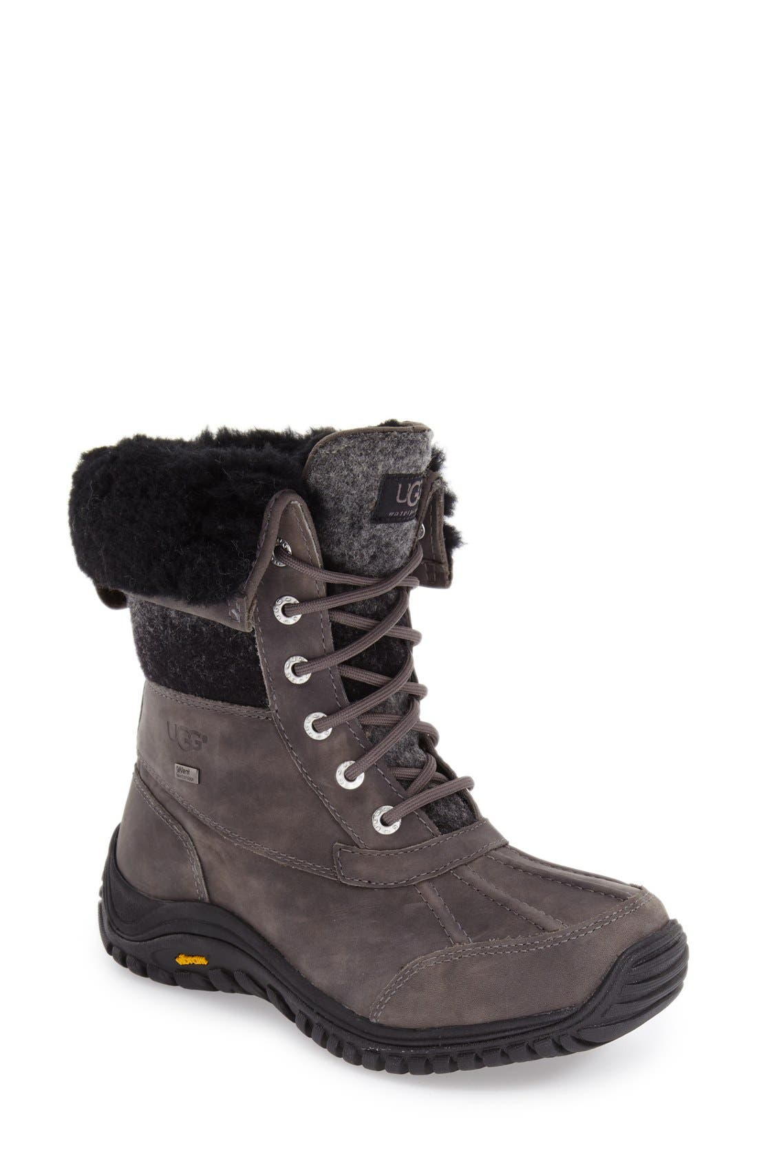 UGG<SUP>®</SUP> Adirondack Waterproof Insulated Winter Boot, Main, color, 020