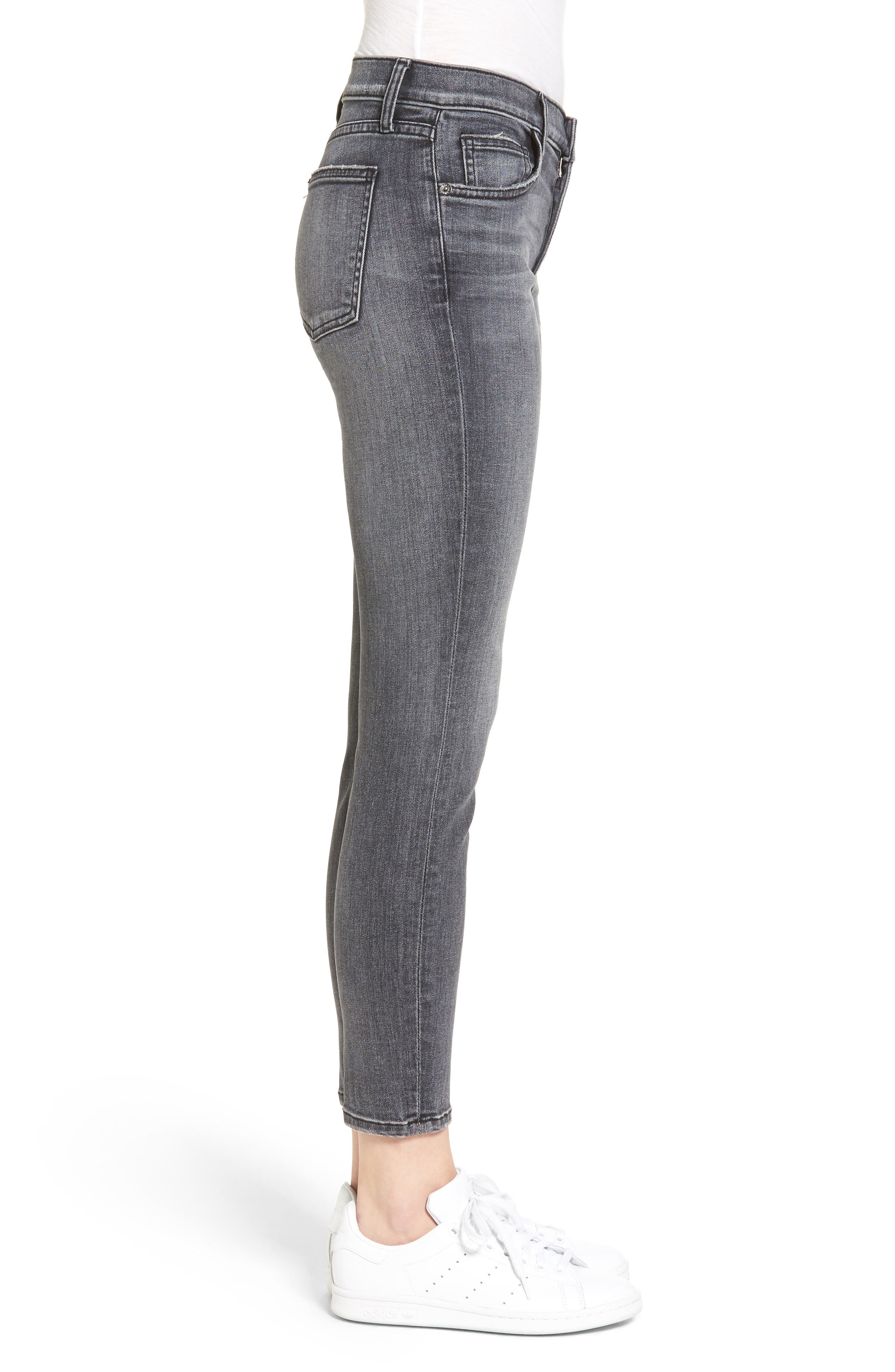 The High Waist Stiletto Ankle Skinny Jeans,                             Alternate thumbnail 2, color,                             493