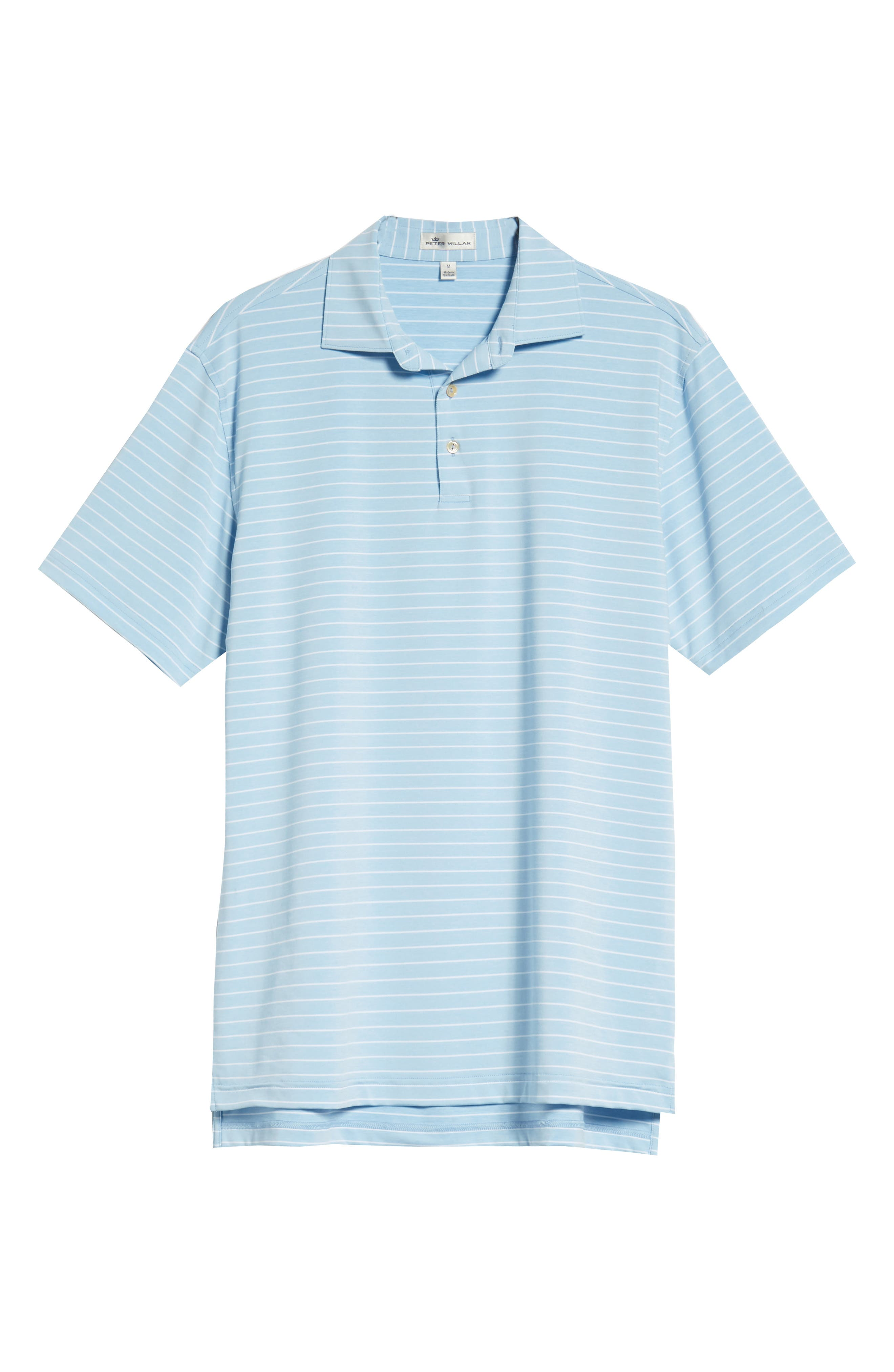 Halifax Stripe Stretch Jersey Polo,                             Alternate thumbnail 6, color,                             COTTAGE BLUE
