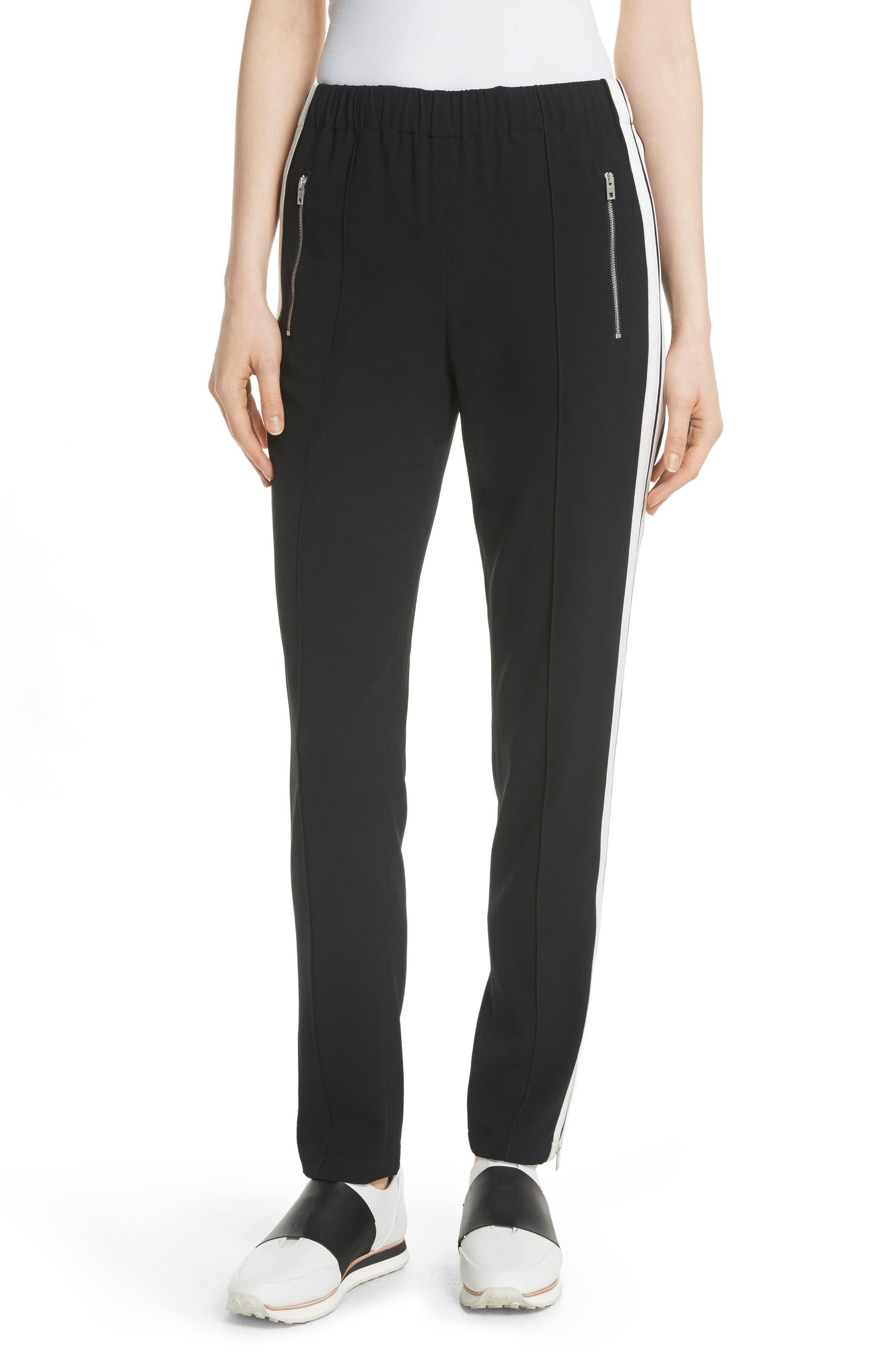 Milo Track Pants,                         Main,                         color, BLACK/ WHITE