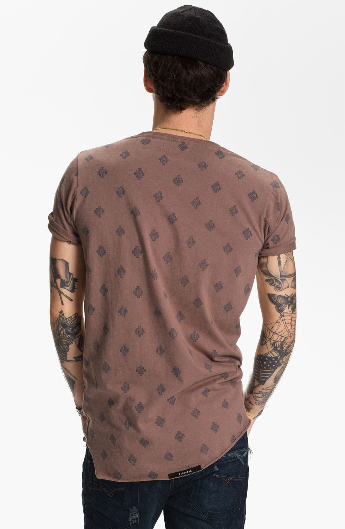 'Saris' Print Pocket T-Shirt,                             Alternate thumbnail 4, color,                             690