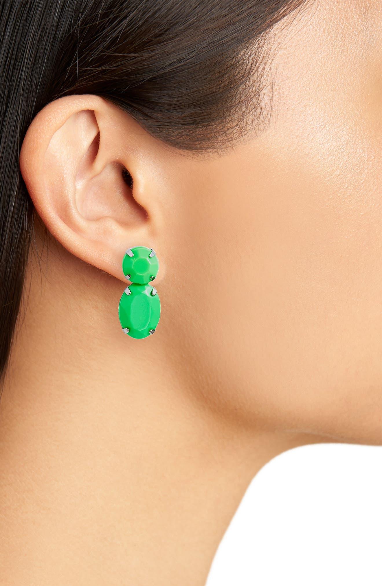 Super Bright Stone Earrings,                             Alternate thumbnail 2, color,                             300