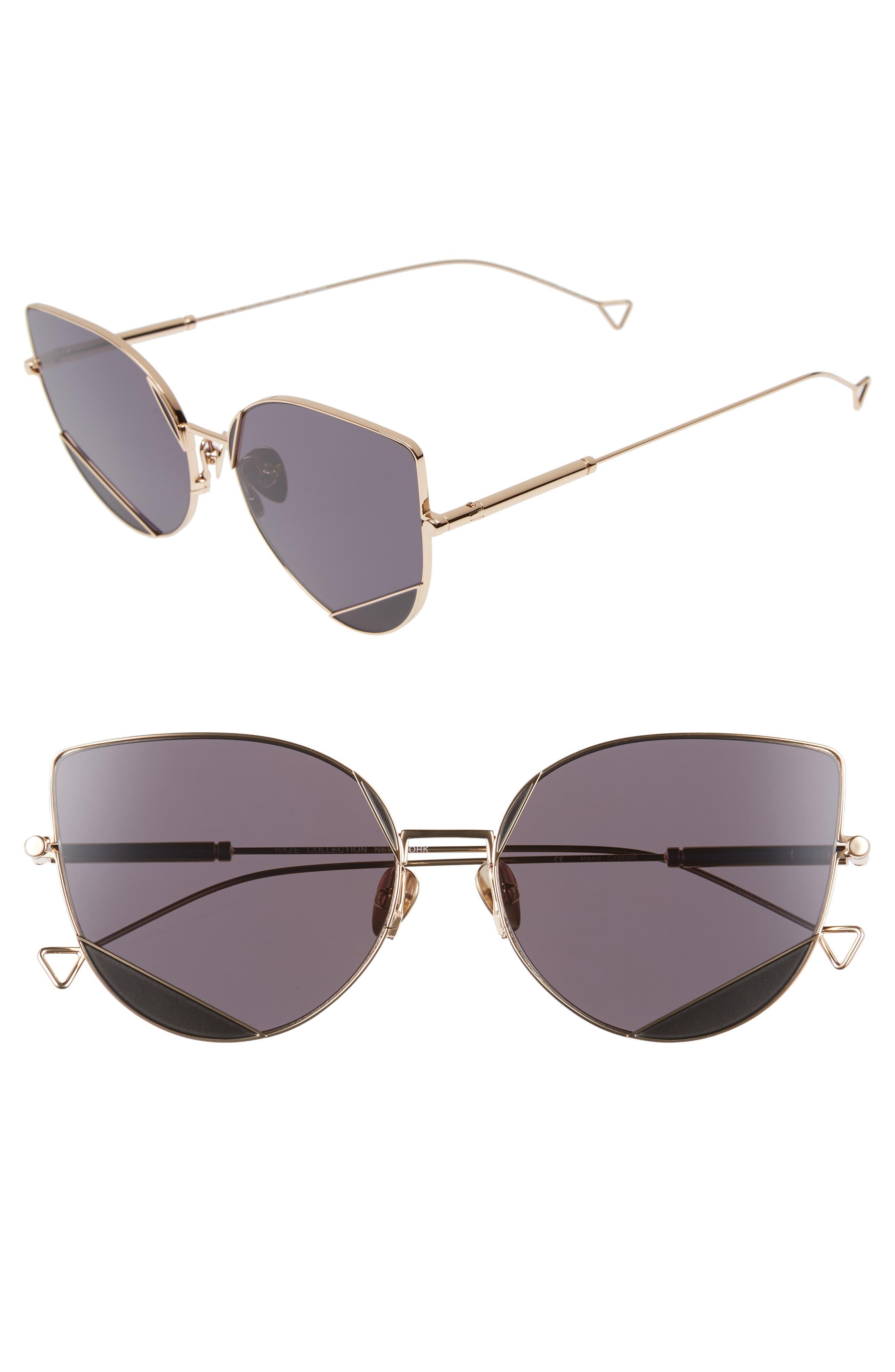 The Nott 57mm Sunglasses,                         Main,                         color, BLACK