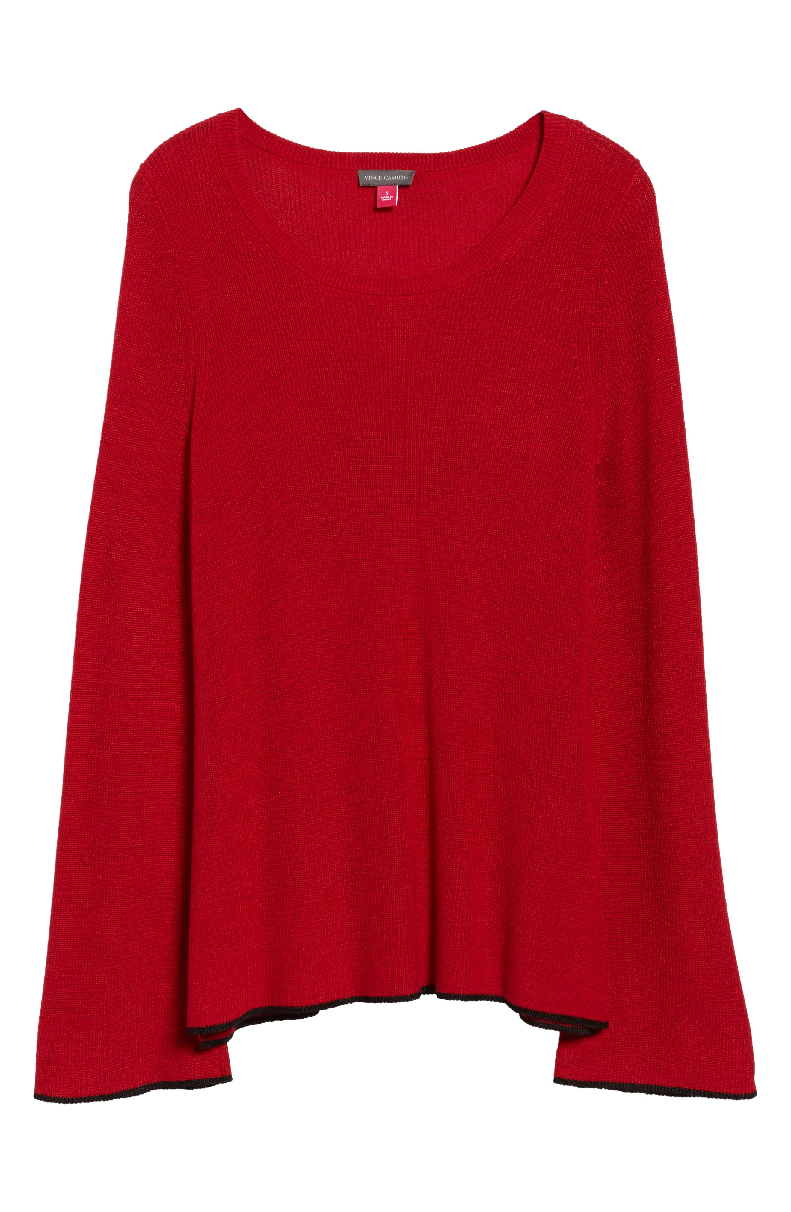 Tipped Bell Sleeve Sweater,                             Alternate thumbnail 41, color,