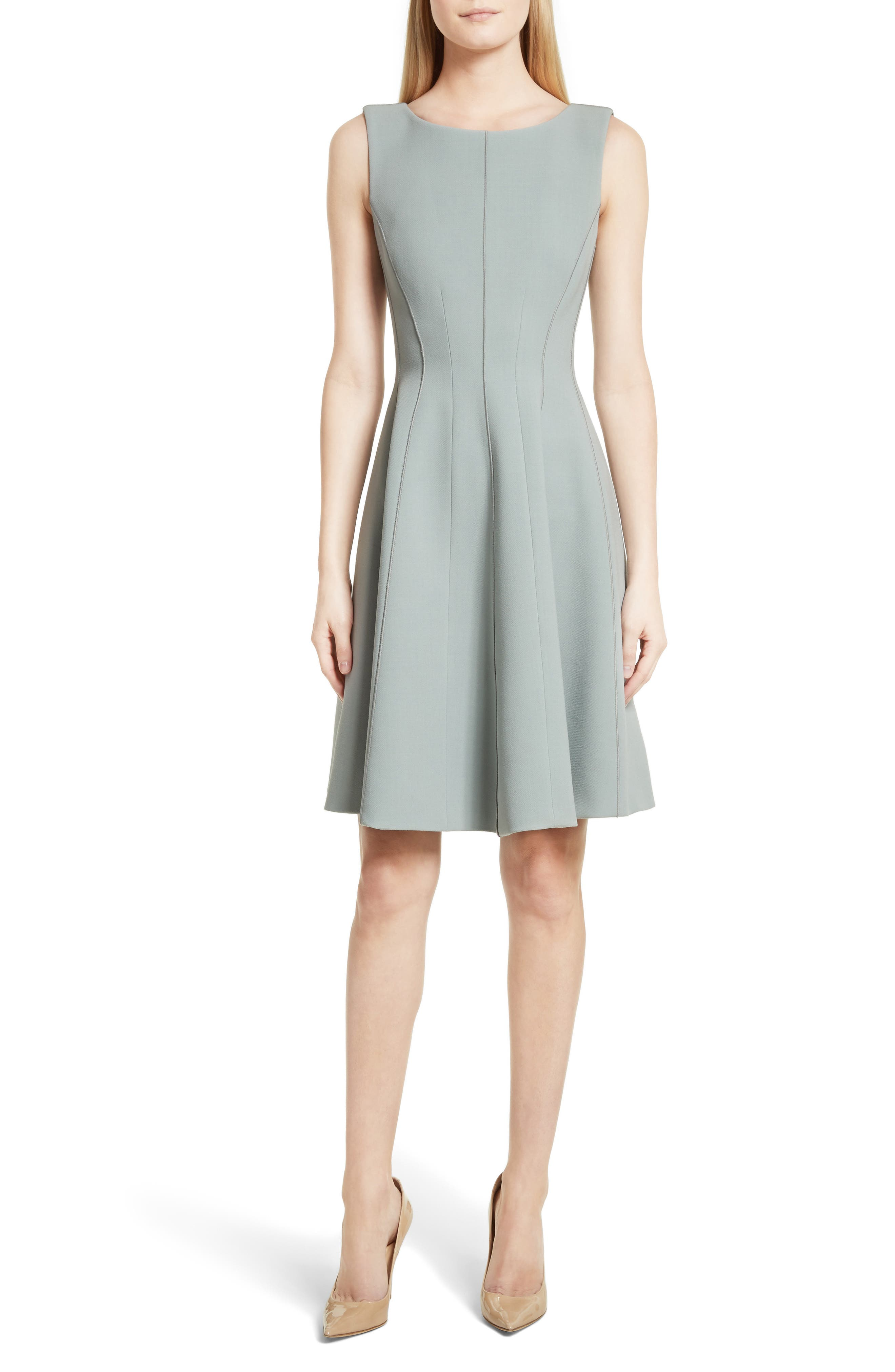 Camogie Fit & Flare Dress,                             Main thumbnail 1, color,