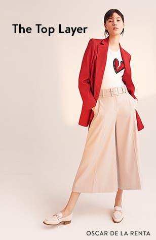 The top layer: designer coats and jackets, by Oscar de la Renta and more.