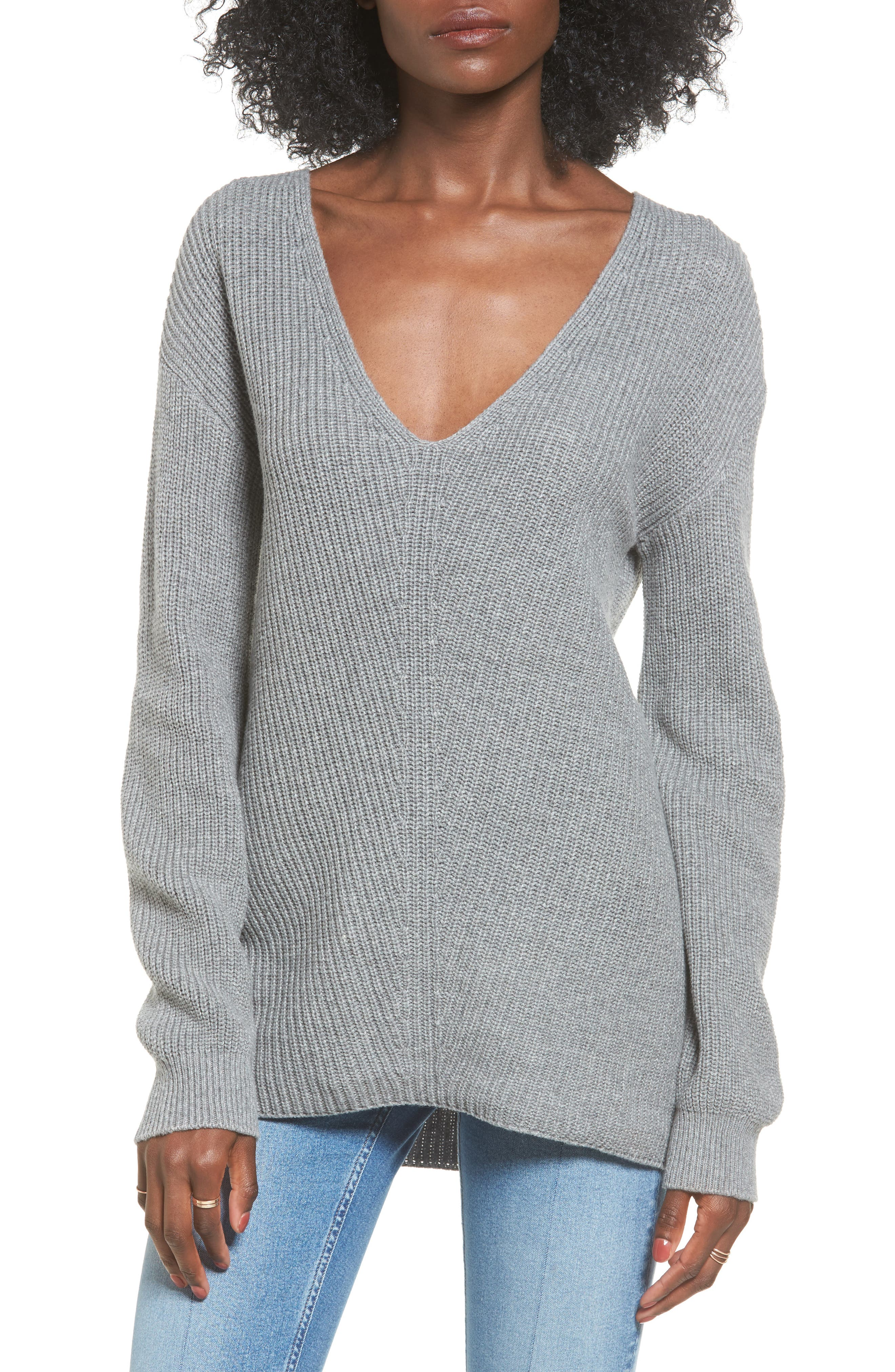 V-Neck Sweater,                             Main thumbnail 2, color,