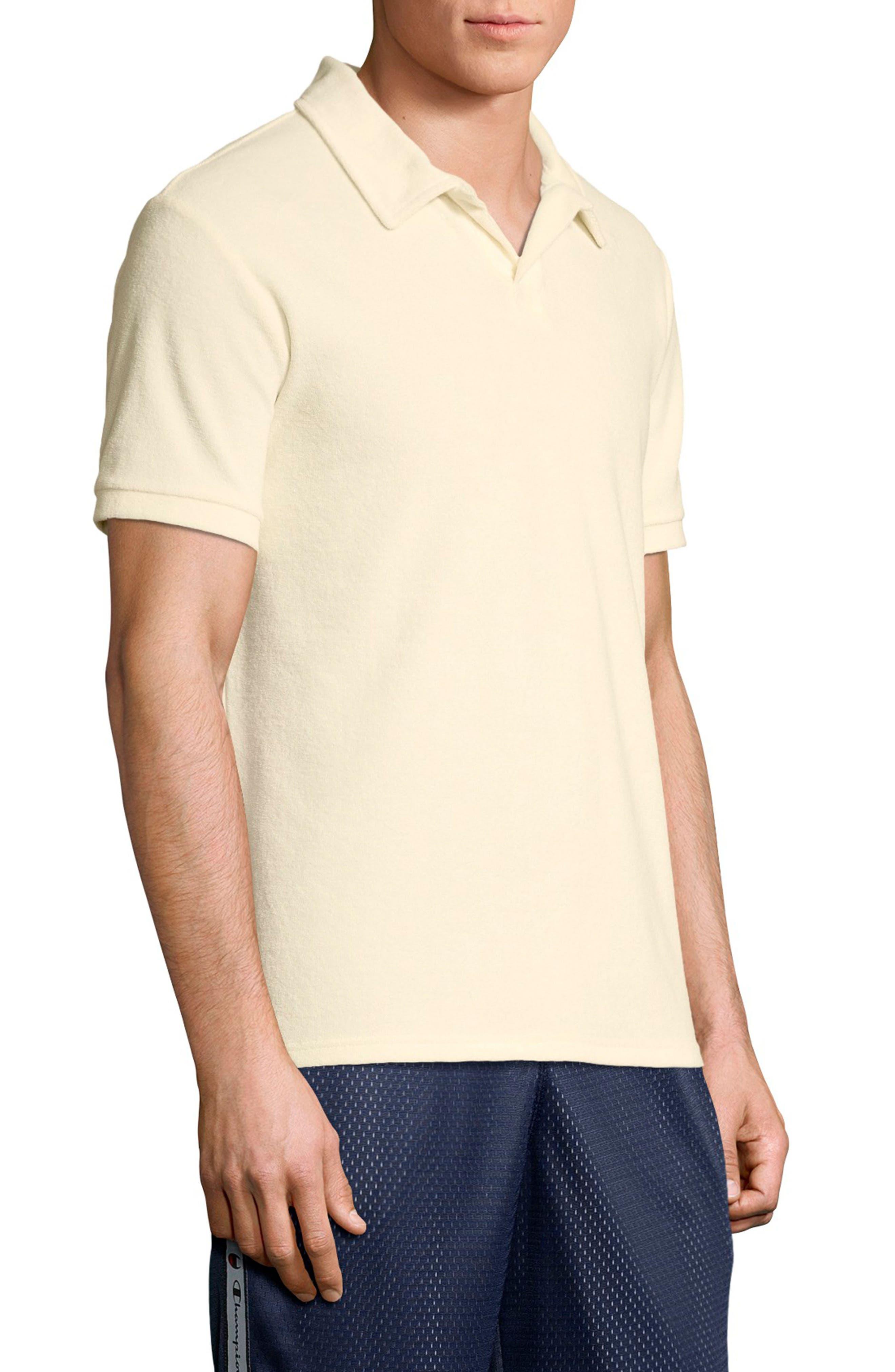 Sponge Terry Crewneck Sweatshirt,                             Alternate thumbnail 3, color,                             WHITE ALABASTER