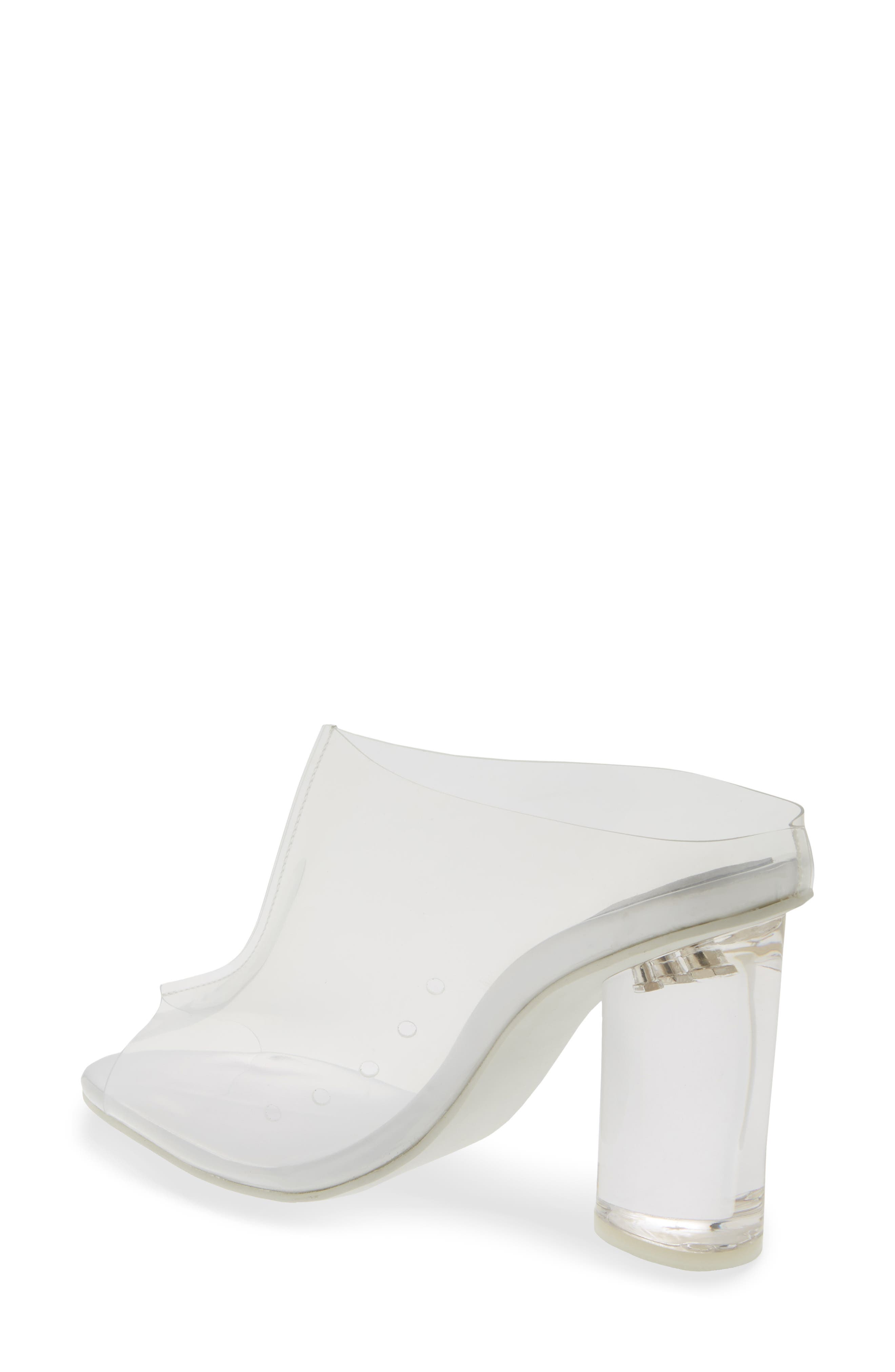 Divinity Column Heel Mule,                             Alternate thumbnail 2, color,                             CLEAR