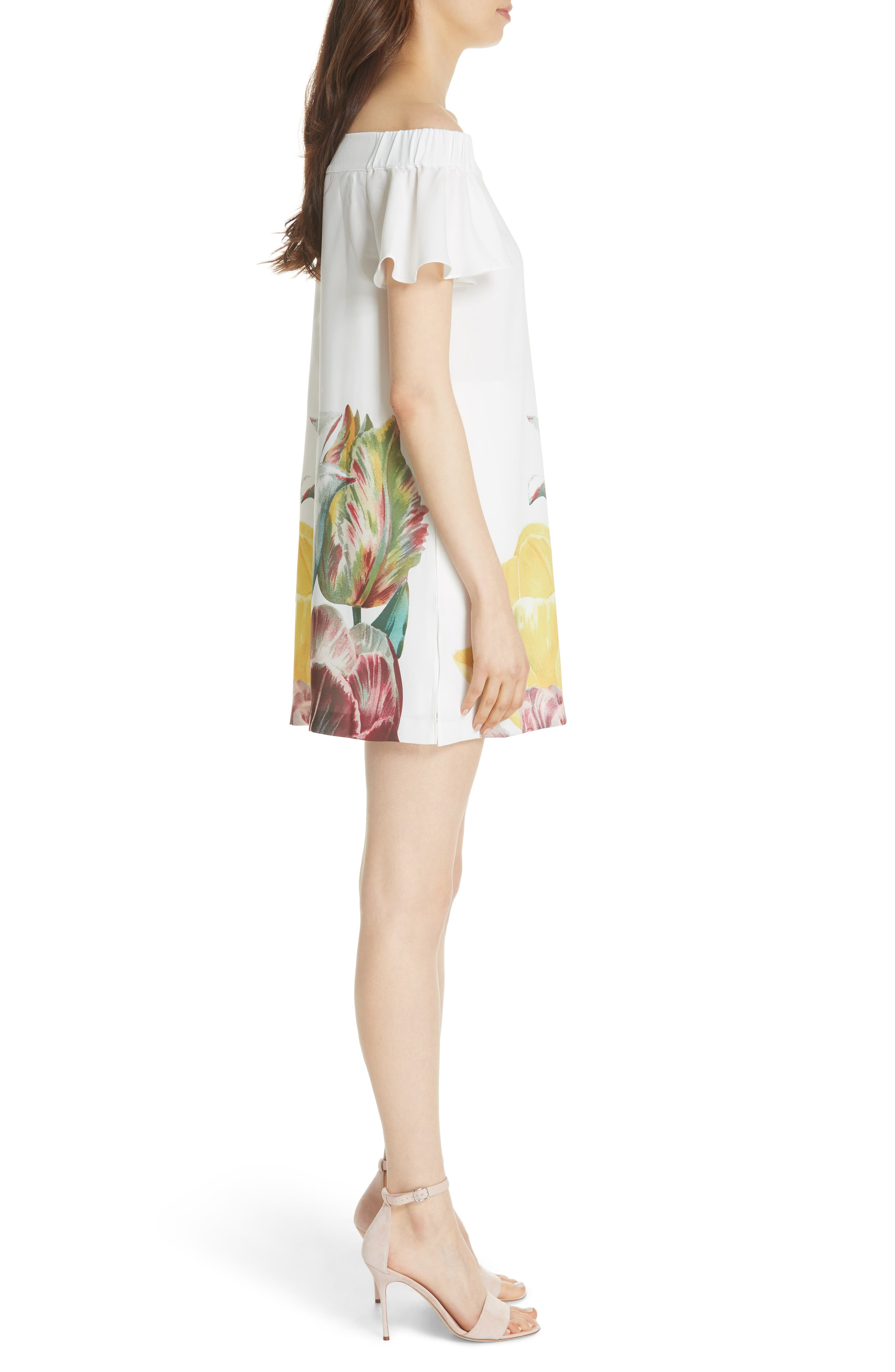 Nayylee Tranquility Romper,                             Alternate thumbnail 3, color,                             WHITE