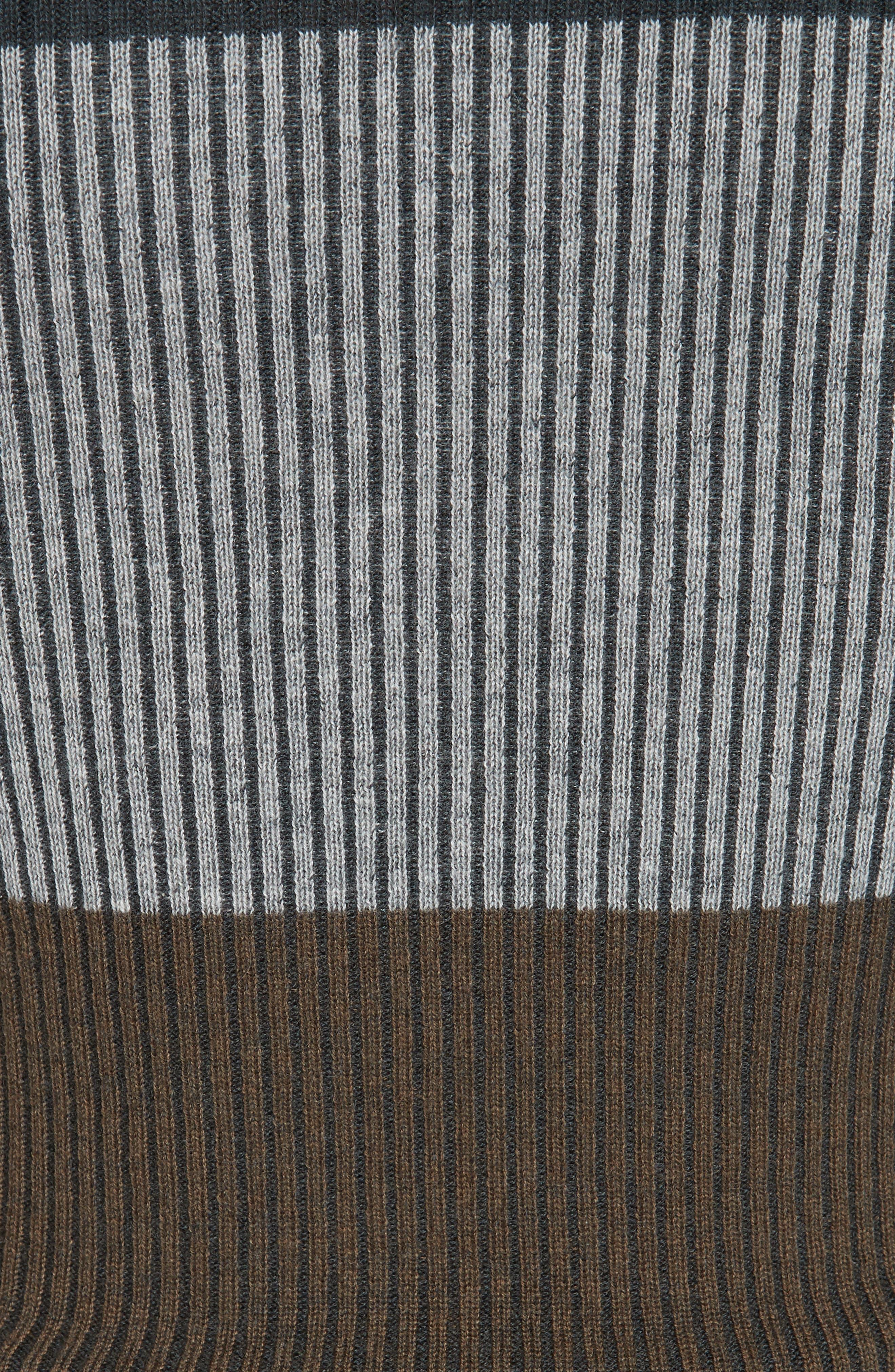 NORDSTROM SIGNATURE,                             Stripe Cashmere Sweater,                             Alternate thumbnail 5, color,                             315