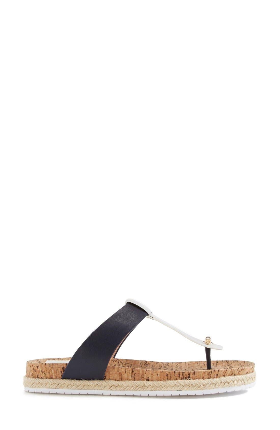 Leather & Cork Thong Sandal,                             Alternate thumbnail 2, color,                             462