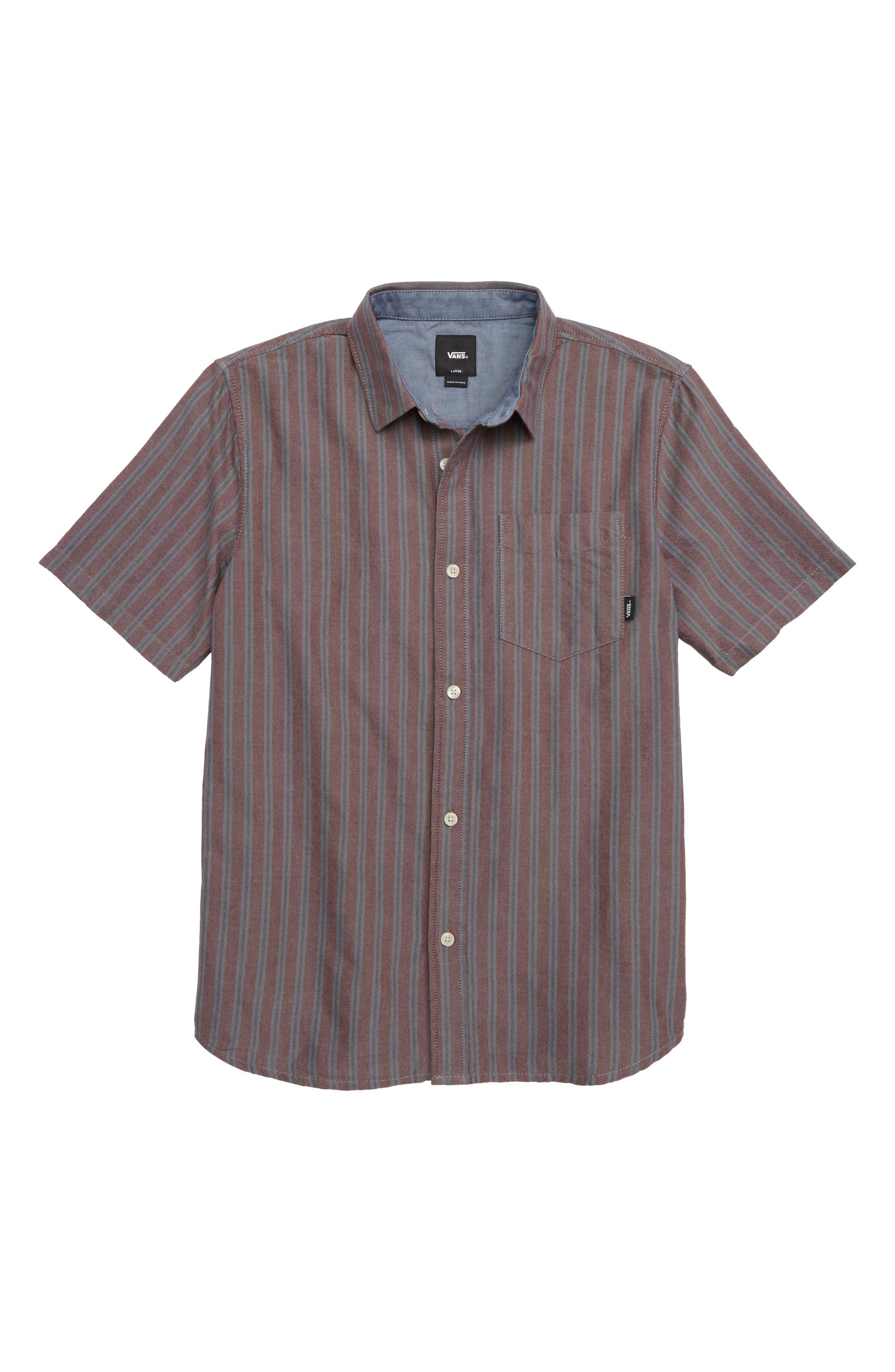 Houser Woven Shirt,                             Main thumbnail 1, color,                             PORT ROYALE STRIPE
