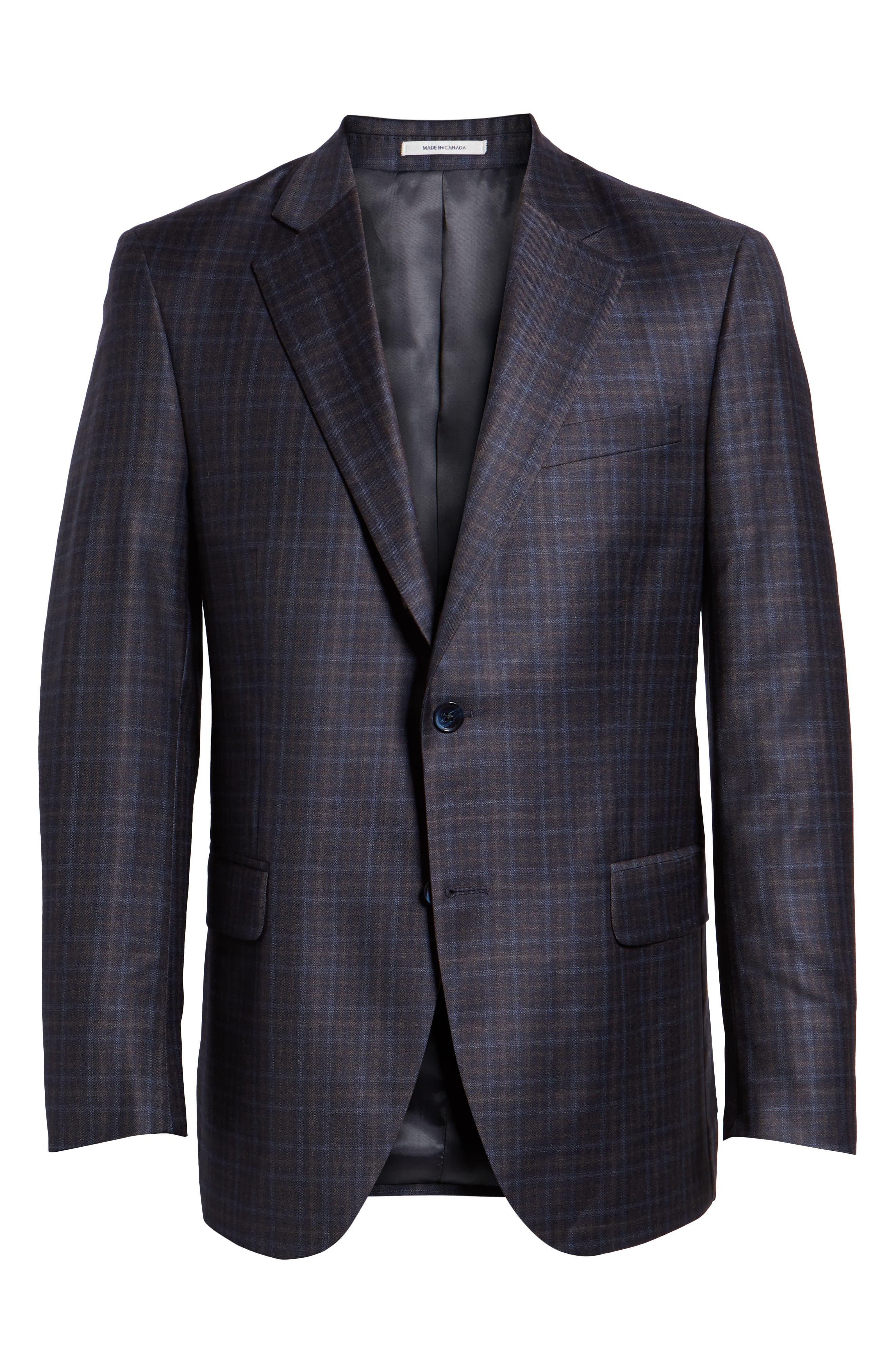 Flynn Classic Fit Wool Sport Coat,                             Alternate thumbnail 5, color,                             NAVY