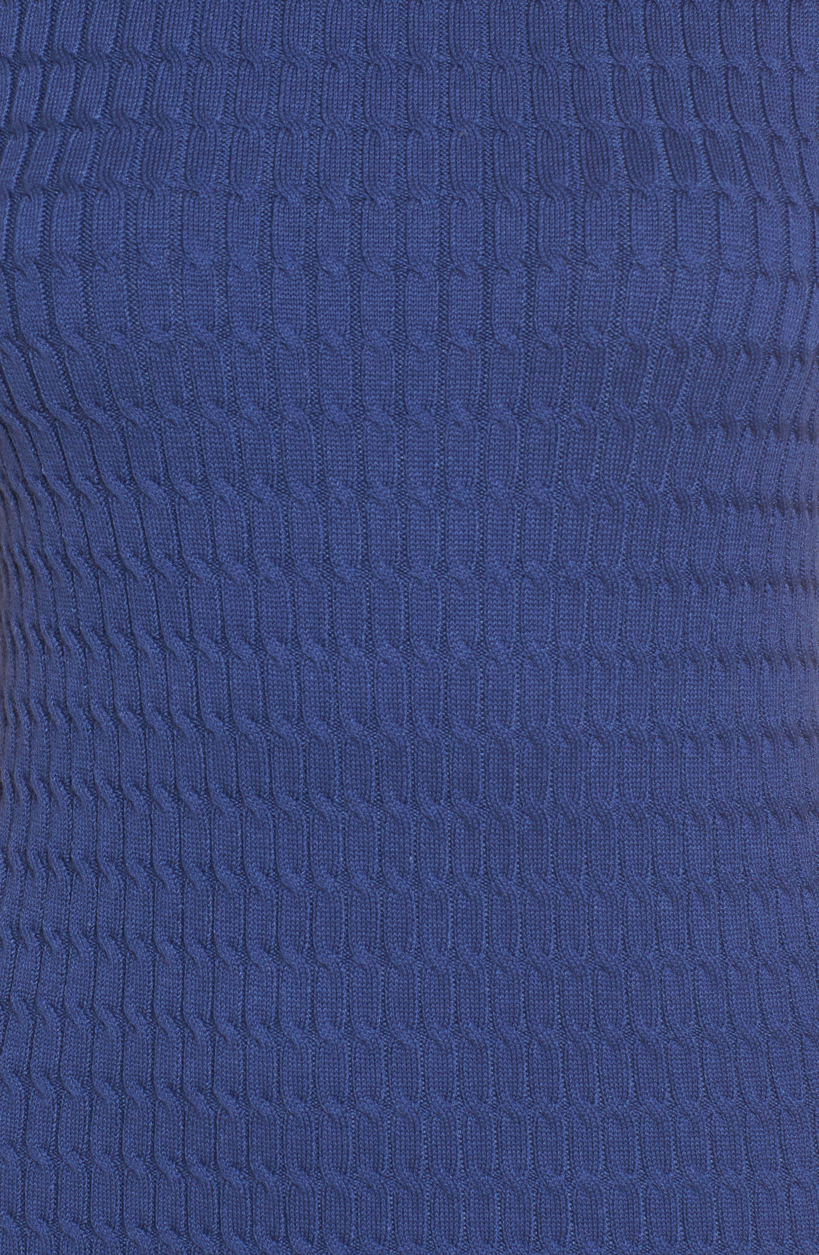 Sleeveless Turtleneck Dress,                             Alternate thumbnail 5, color,                             ECLIPSE