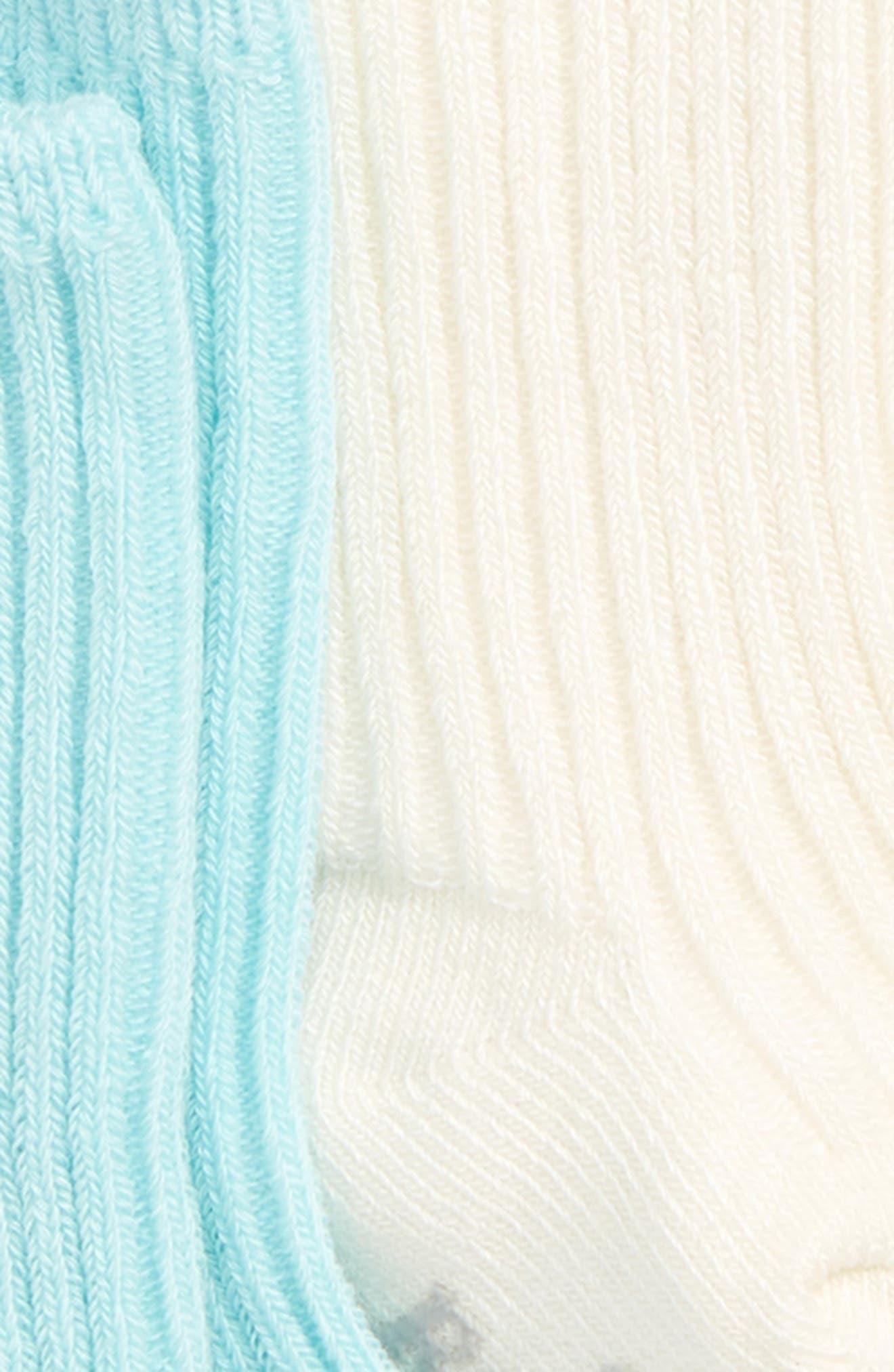 3-Pack Tabitha Basic Socks,                             Alternate thumbnail 2, color,                             CREAM/ AQUA/ GREY