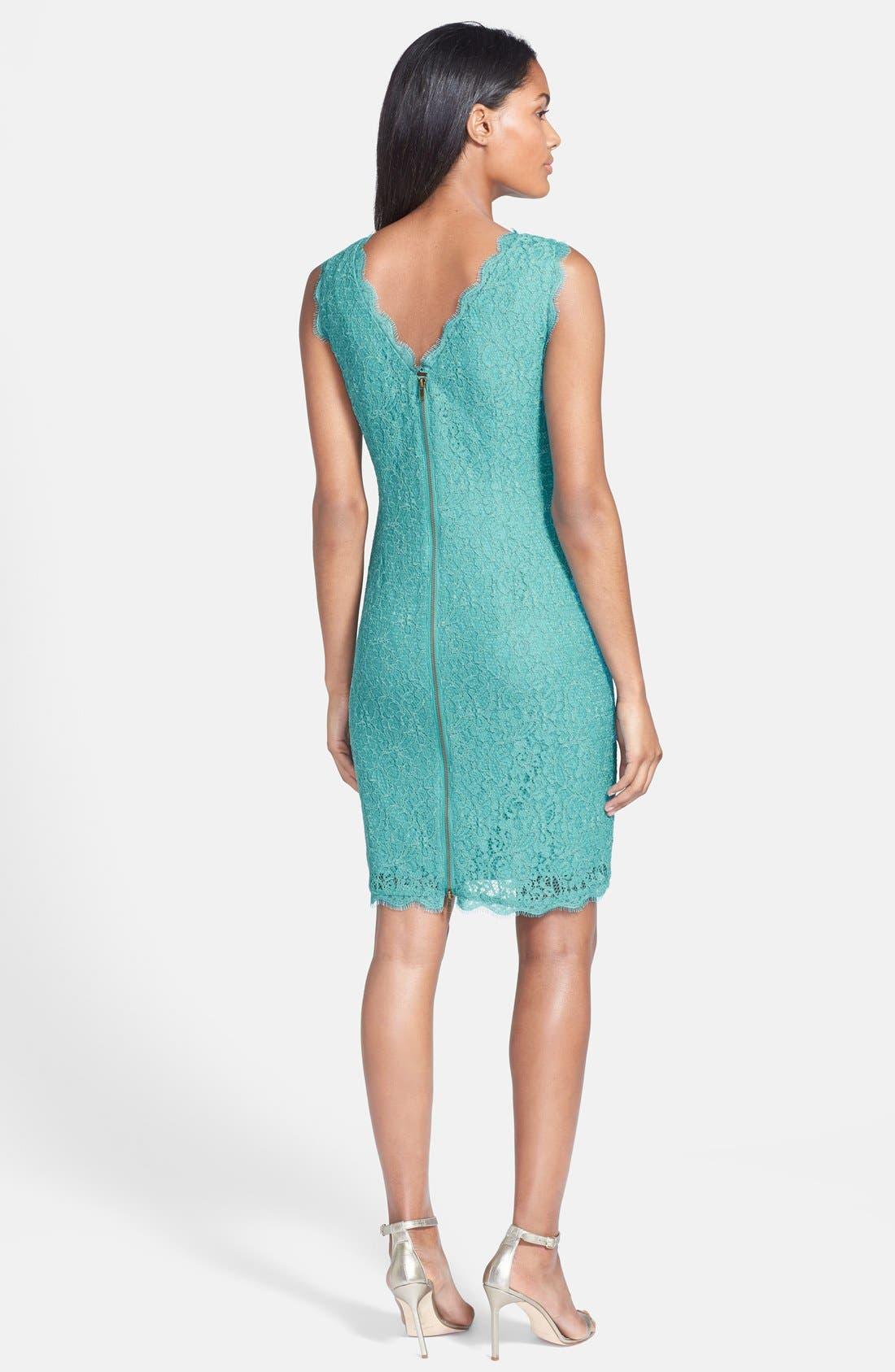 Boatneck Lace Sheath Dress,                             Alternate thumbnail 76, color,