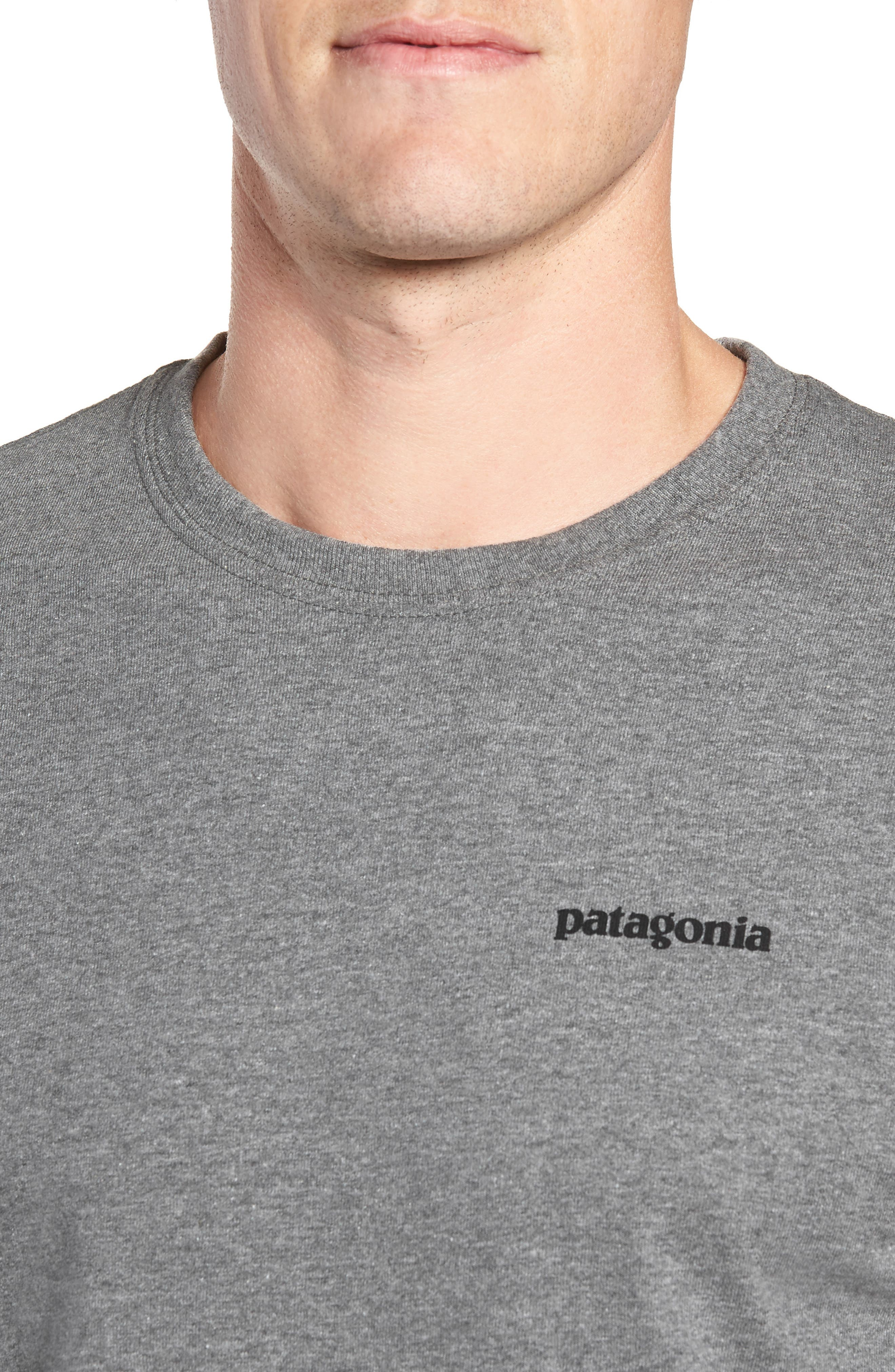 PATAGONIA,                             Fitz Roy Responsibili-Tee Long-Sleeve T-Shirt,                             Alternate thumbnail 4, color,                             020