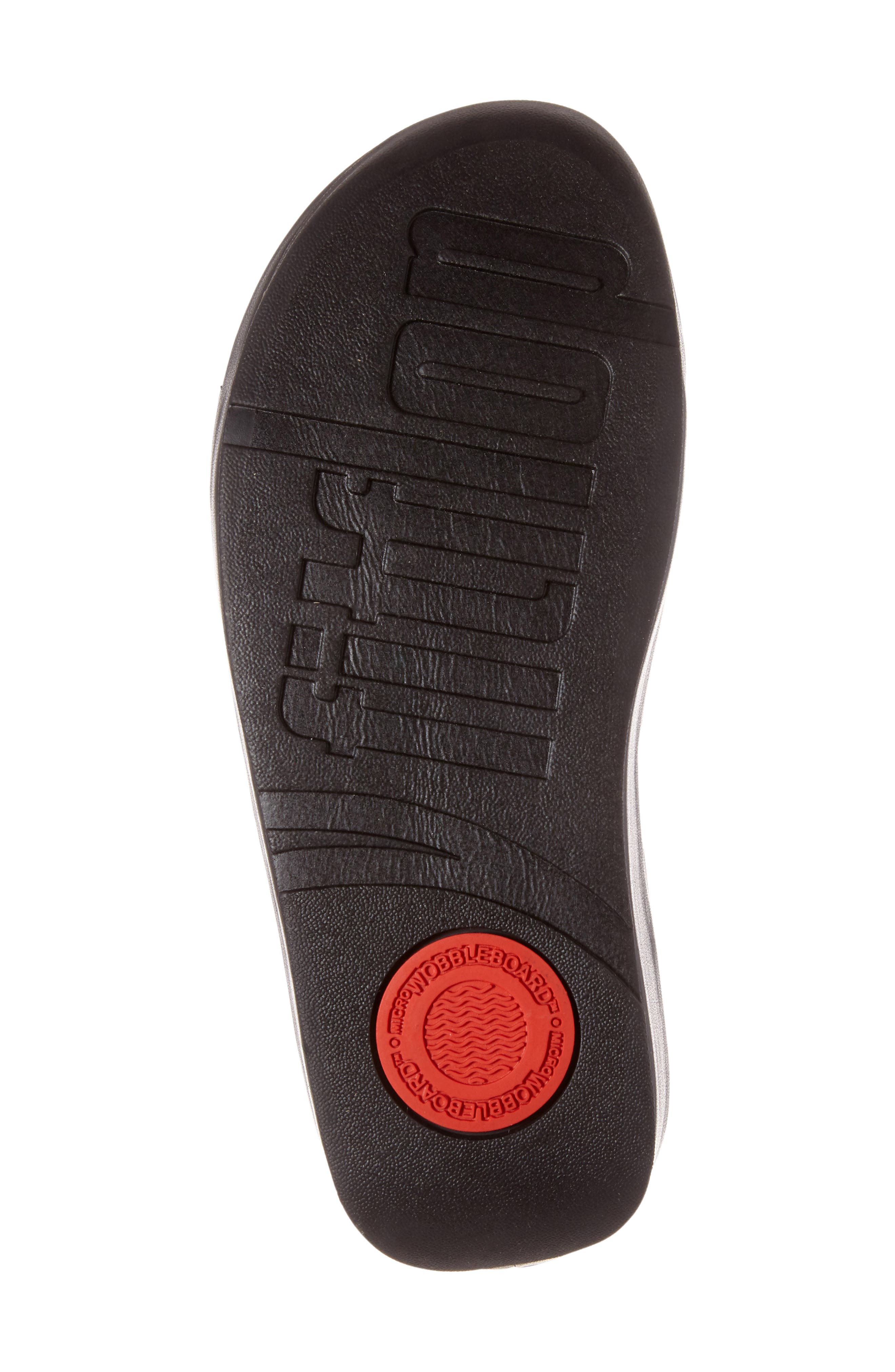 FITFLOP,                              Crystall Wedge Sandal,                             Alternate thumbnail 6, color,                             001