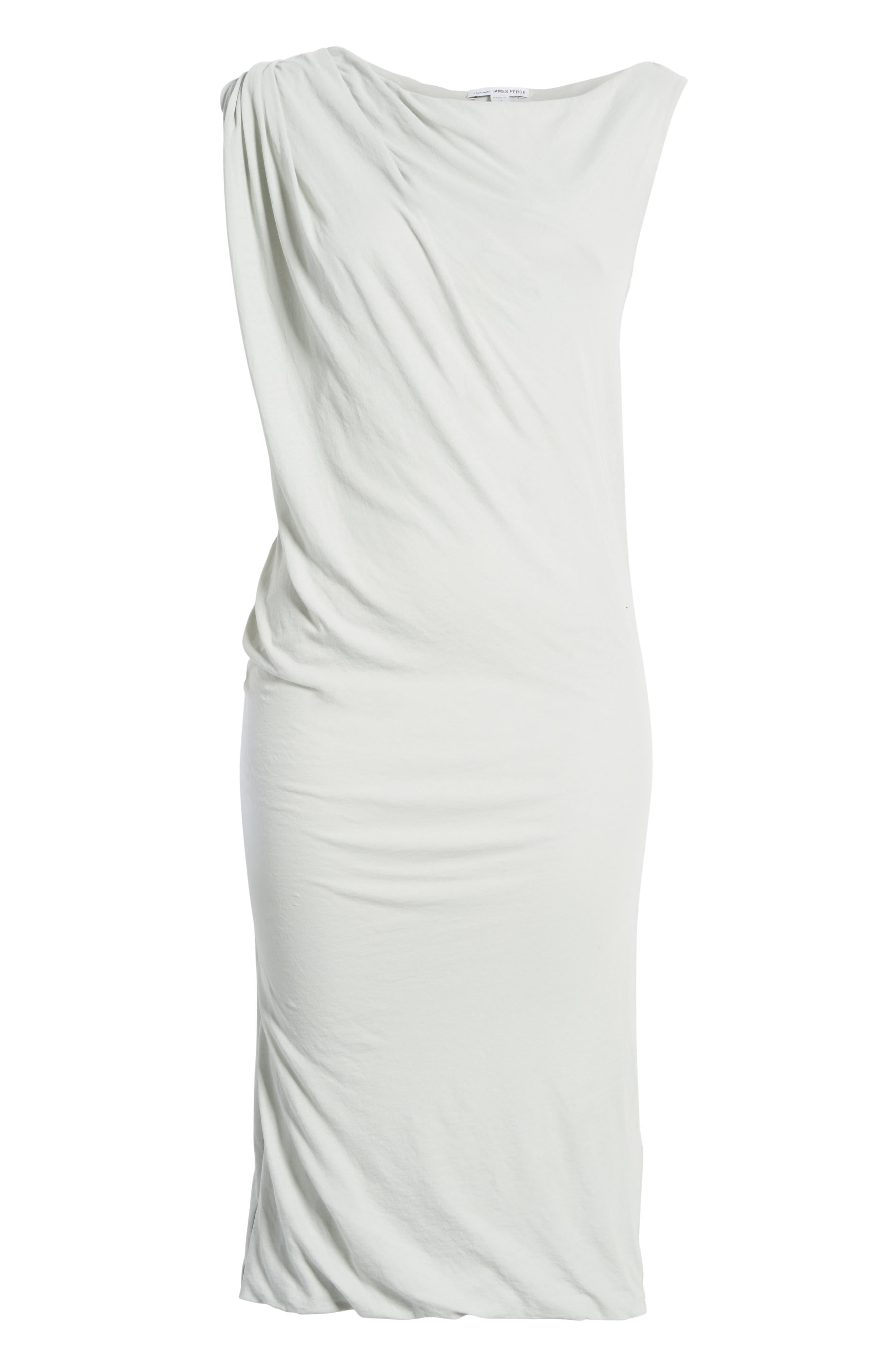 Draped One-Shoulder Midi Dress,                             Alternate thumbnail 17, color,