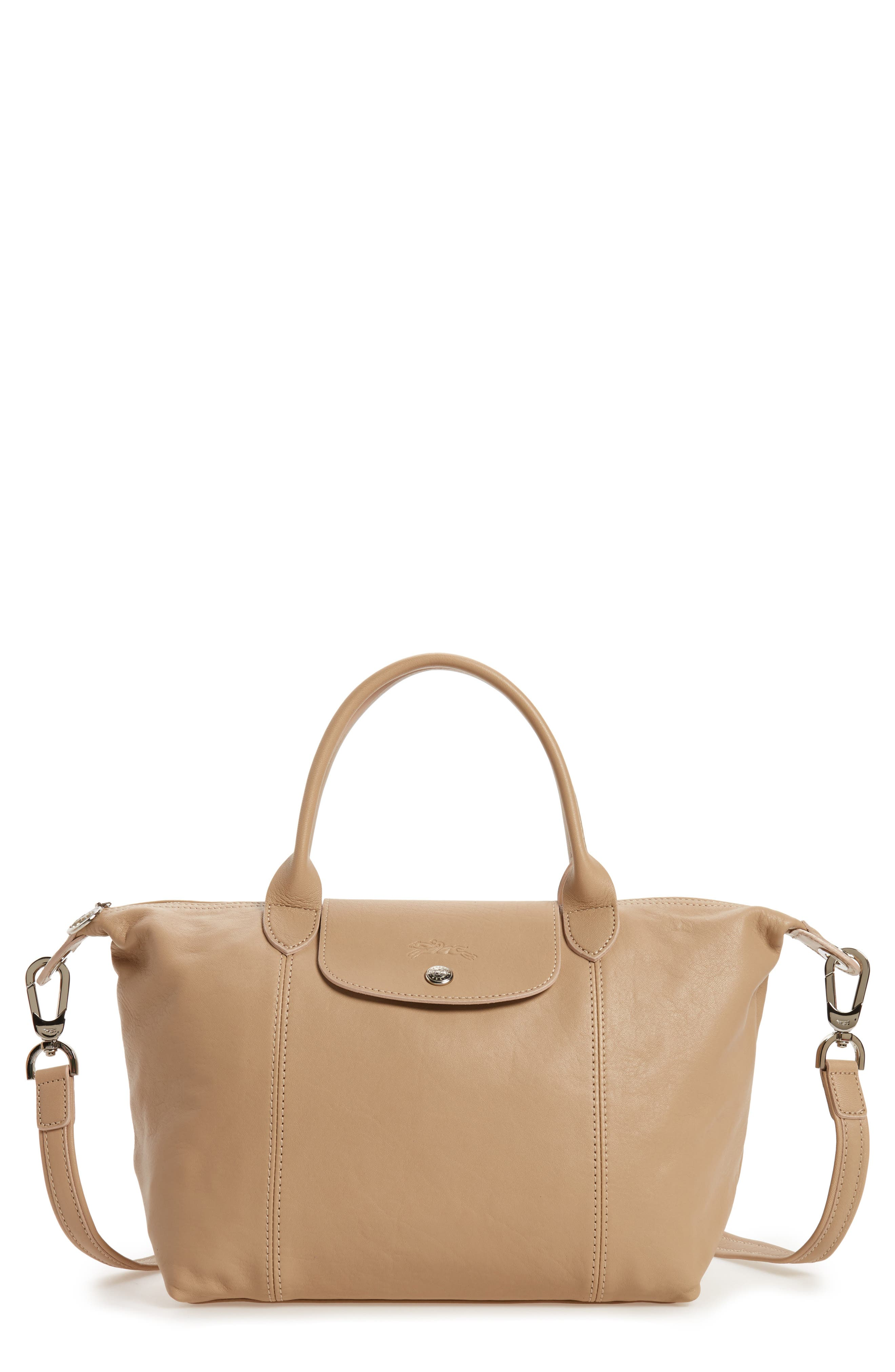 Small 'Le Pliage Cuir' Leather Top Handle Tote,                             Main thumbnail 6, color,