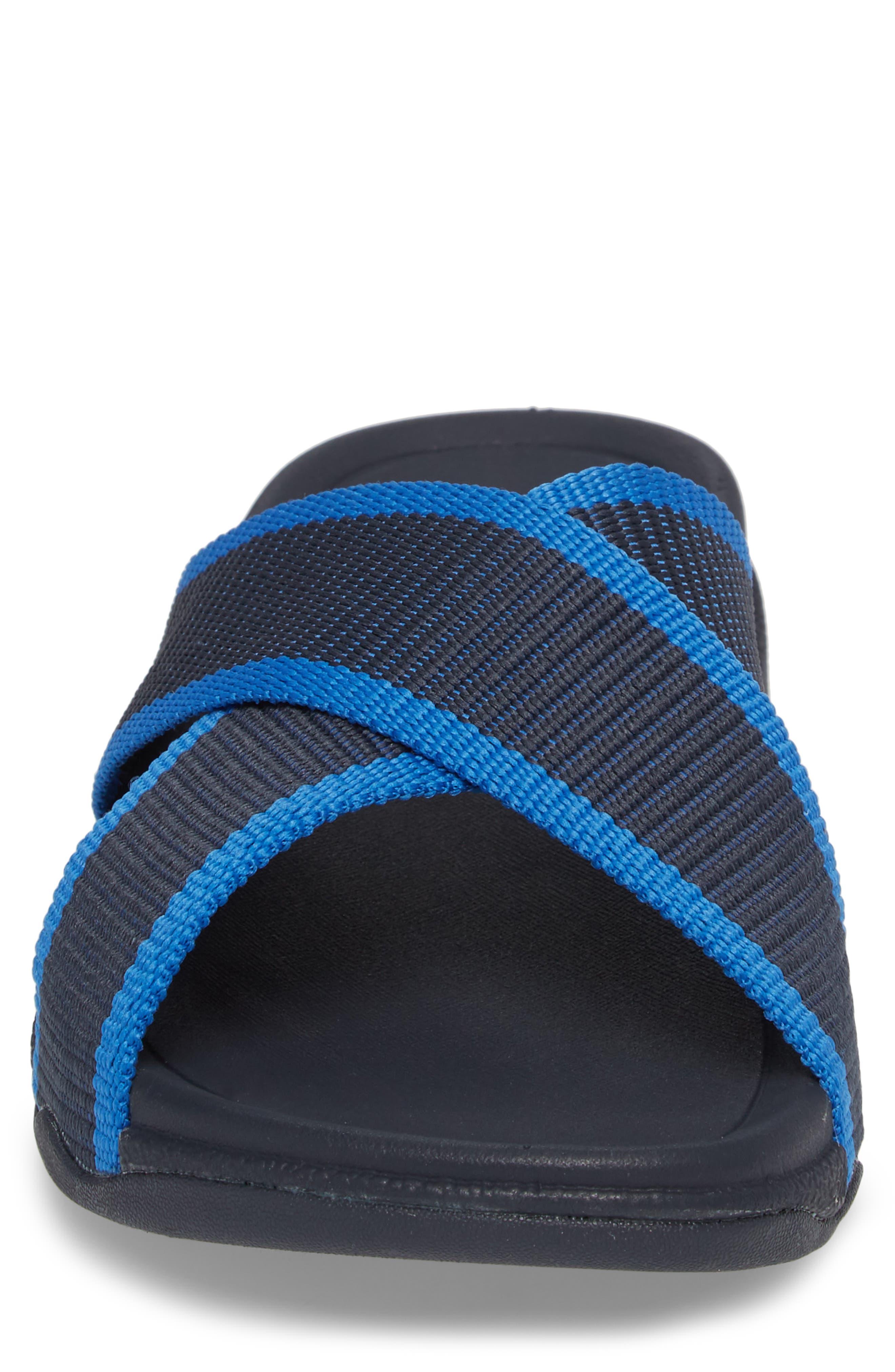 Surfer Slide Sandal,                             Alternate thumbnail 4, color,                             SUPERNAVY BLUE
