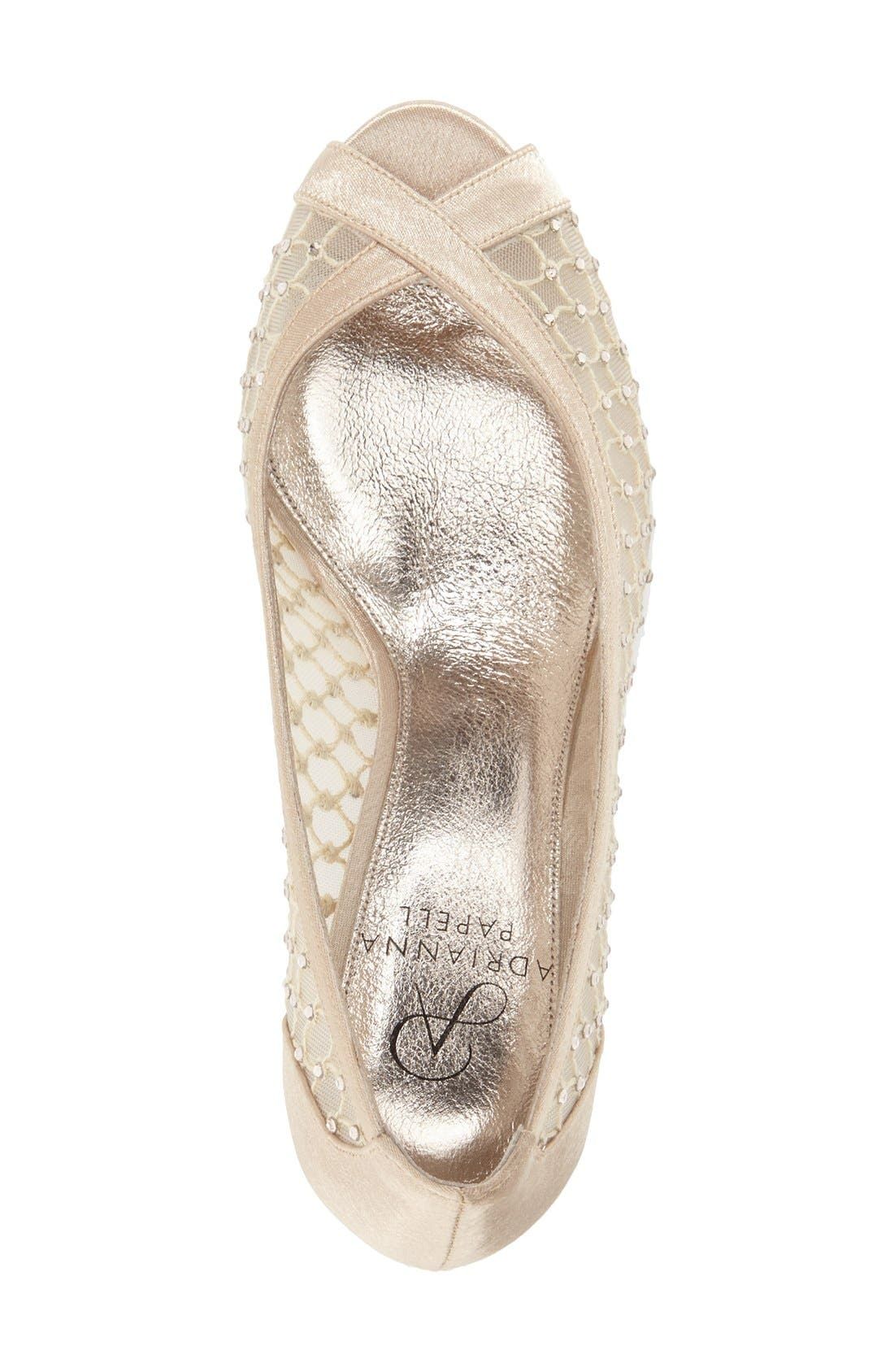 'Zandra' Crystal Embellished Peep Toe Pump,                             Alternate thumbnail 3, color,                             251