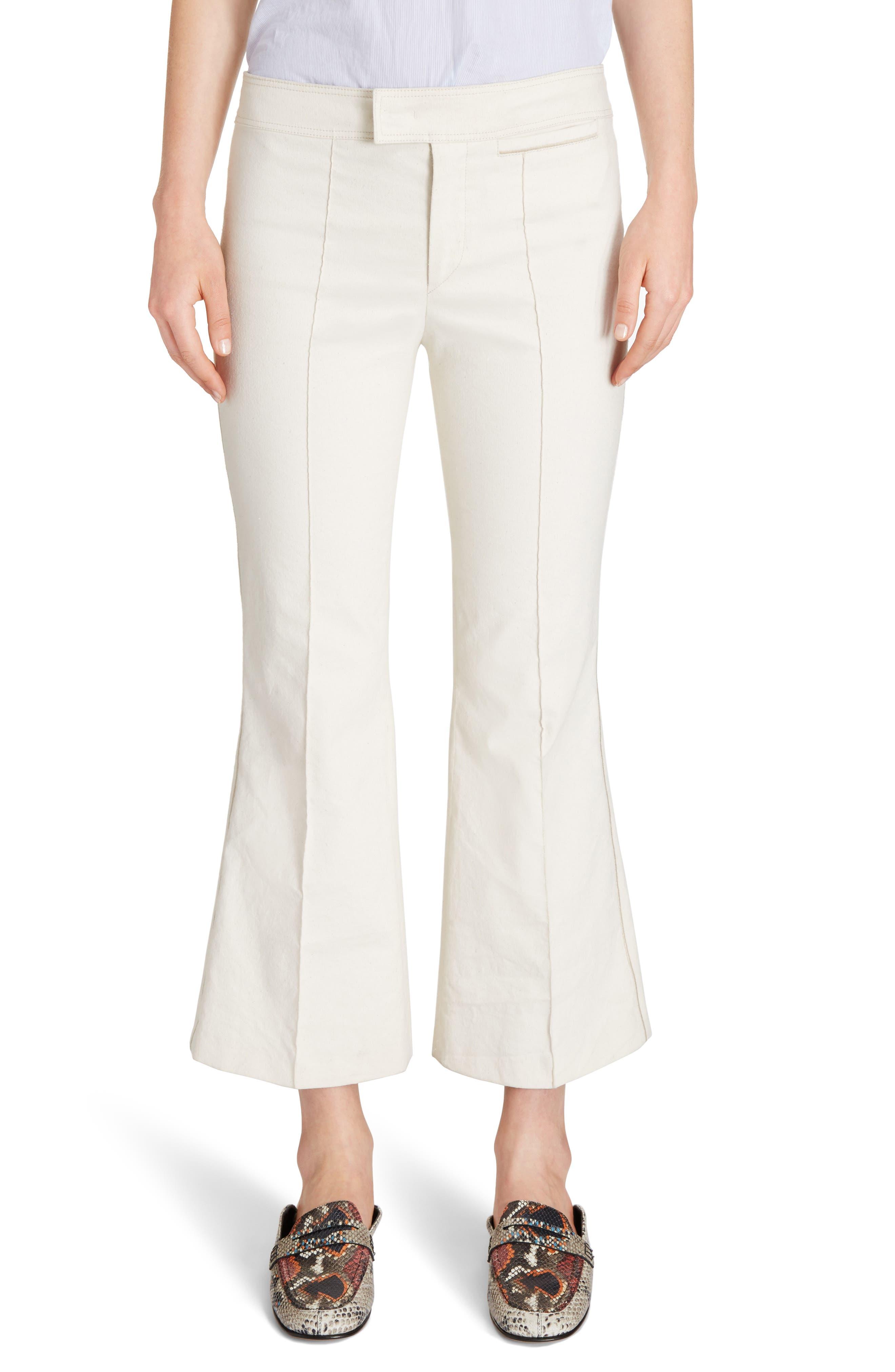 Lyre Crop Flare Pants,                         Main,                         color, 100