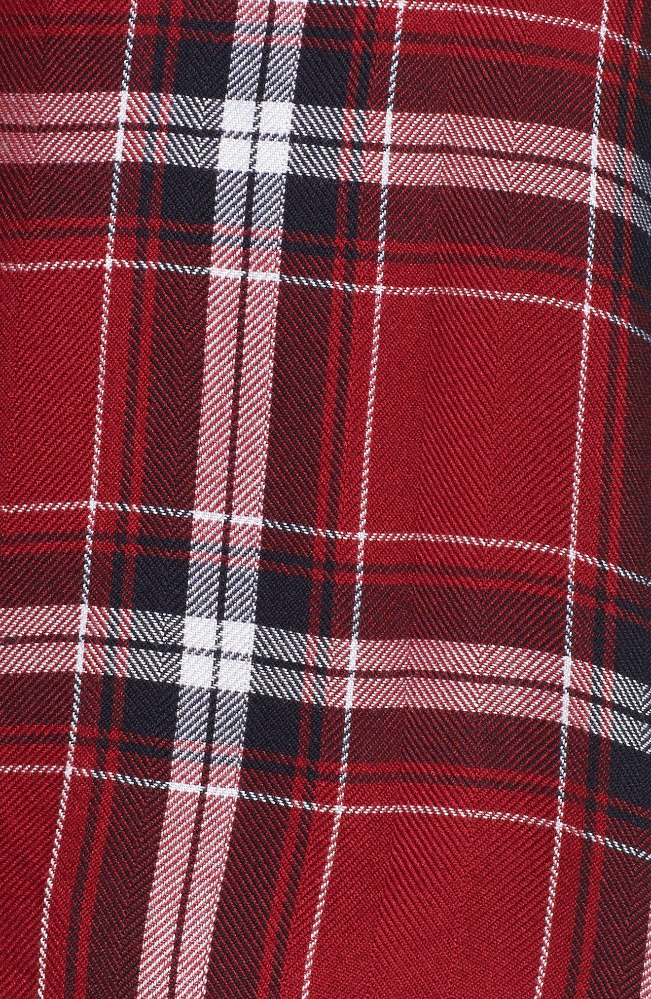 Plaid Short Pajamas,                             Alternate thumbnail 5, color,                             627