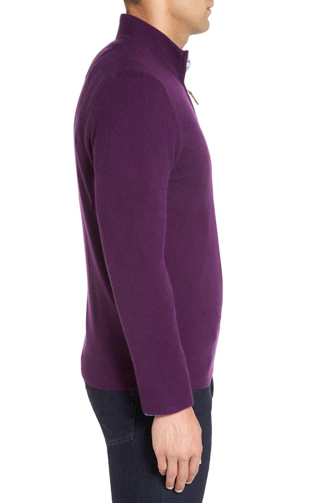 Cashmere Quarter Zip Sweater,                             Alternate thumbnail 41, color,