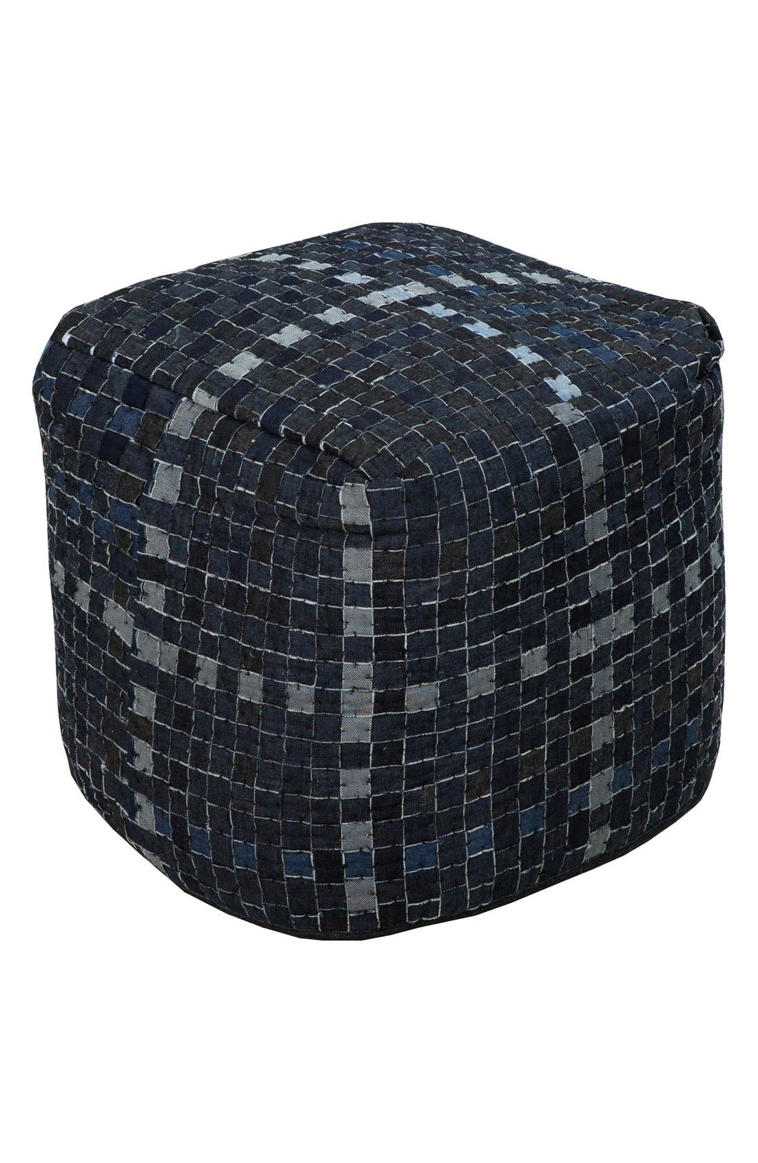 Denim Pouf,                         Main,                         color,