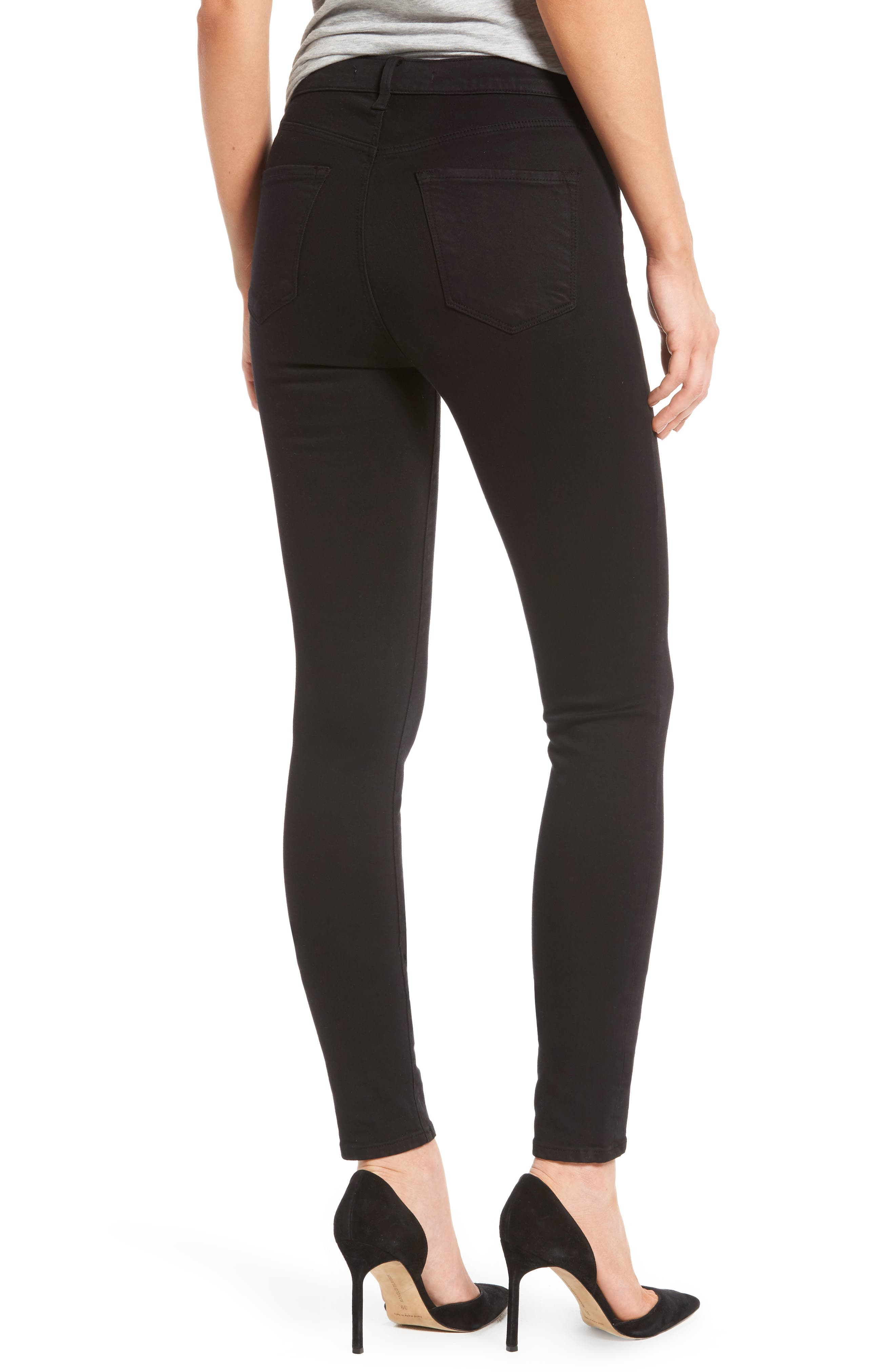 Maria High Waist Skinny Jeans,                             Alternate thumbnail 2, color,                             BLACK