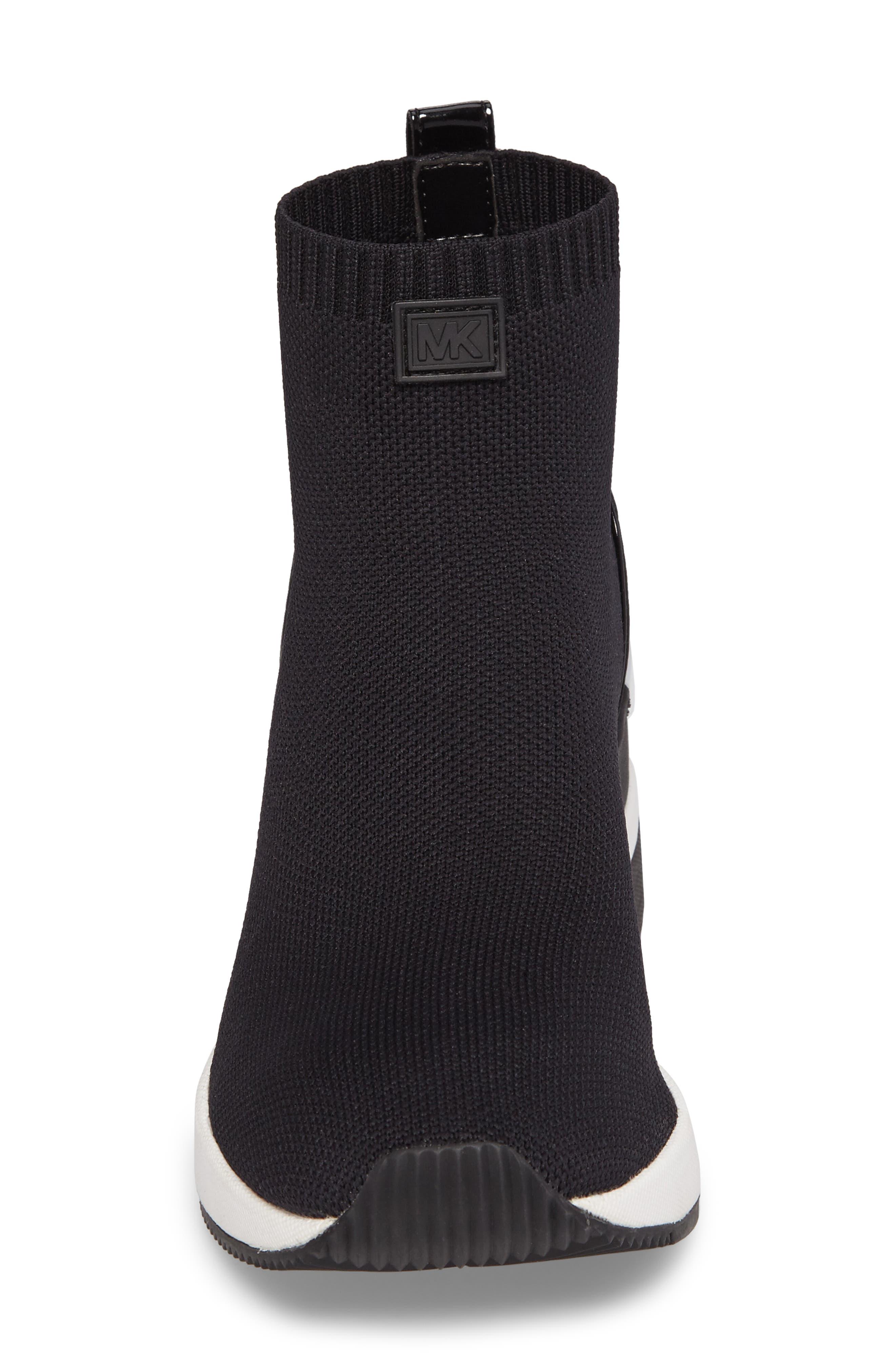 Skyler Knit Bootie,                             Alternate thumbnail 4, color,                             BLACK