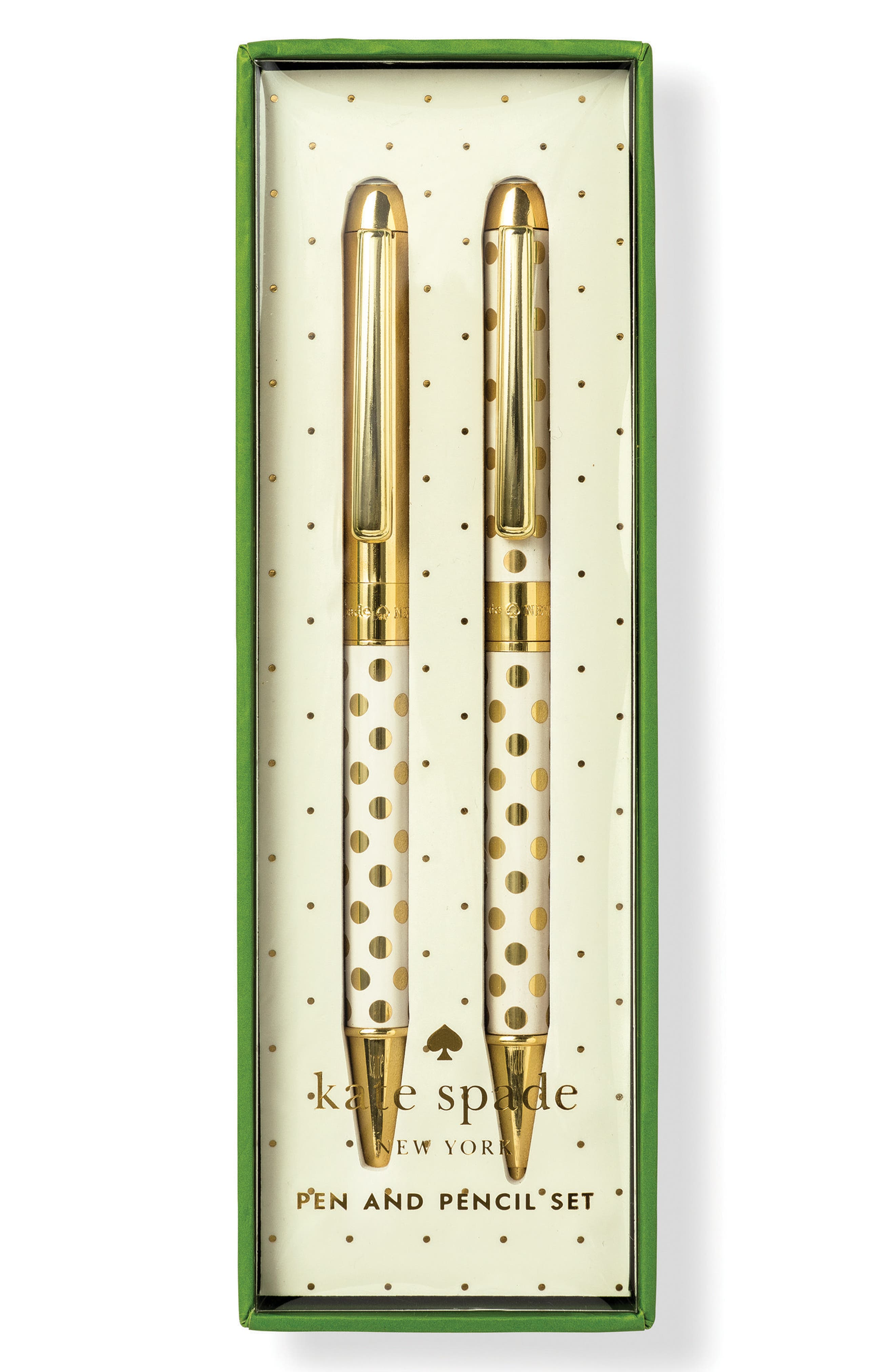 KATE SPADE NEW YORK dot pen & pencil set, Main, color, 711