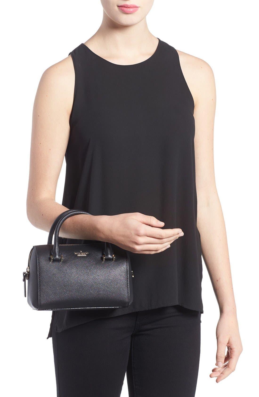 cameron street lane leather satchel,                             Alternate thumbnail 2, color,                             001