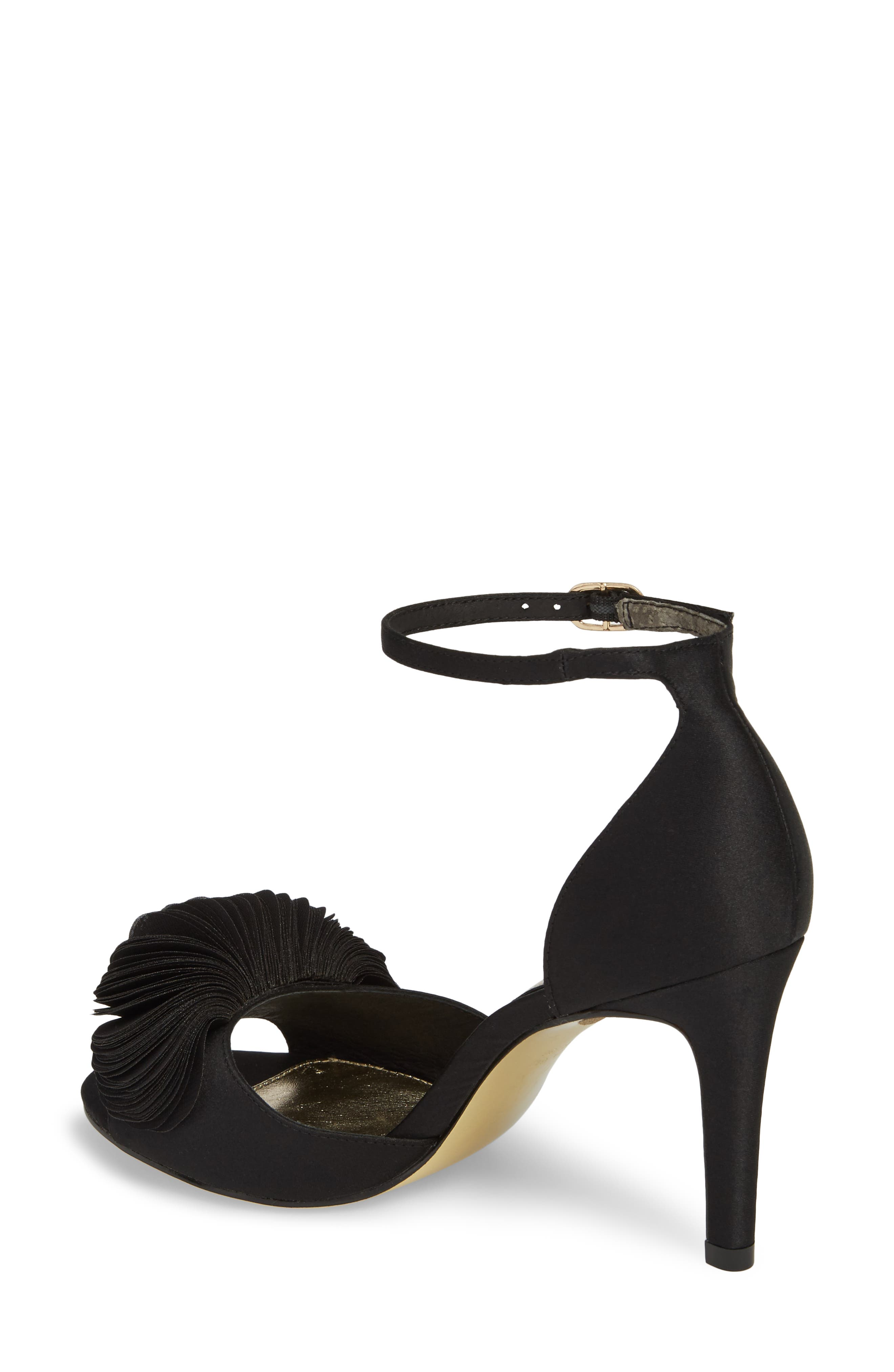 Gracie Ankle Strap Sandal,                             Alternate thumbnail 2, color,                             BLACK FABRIC