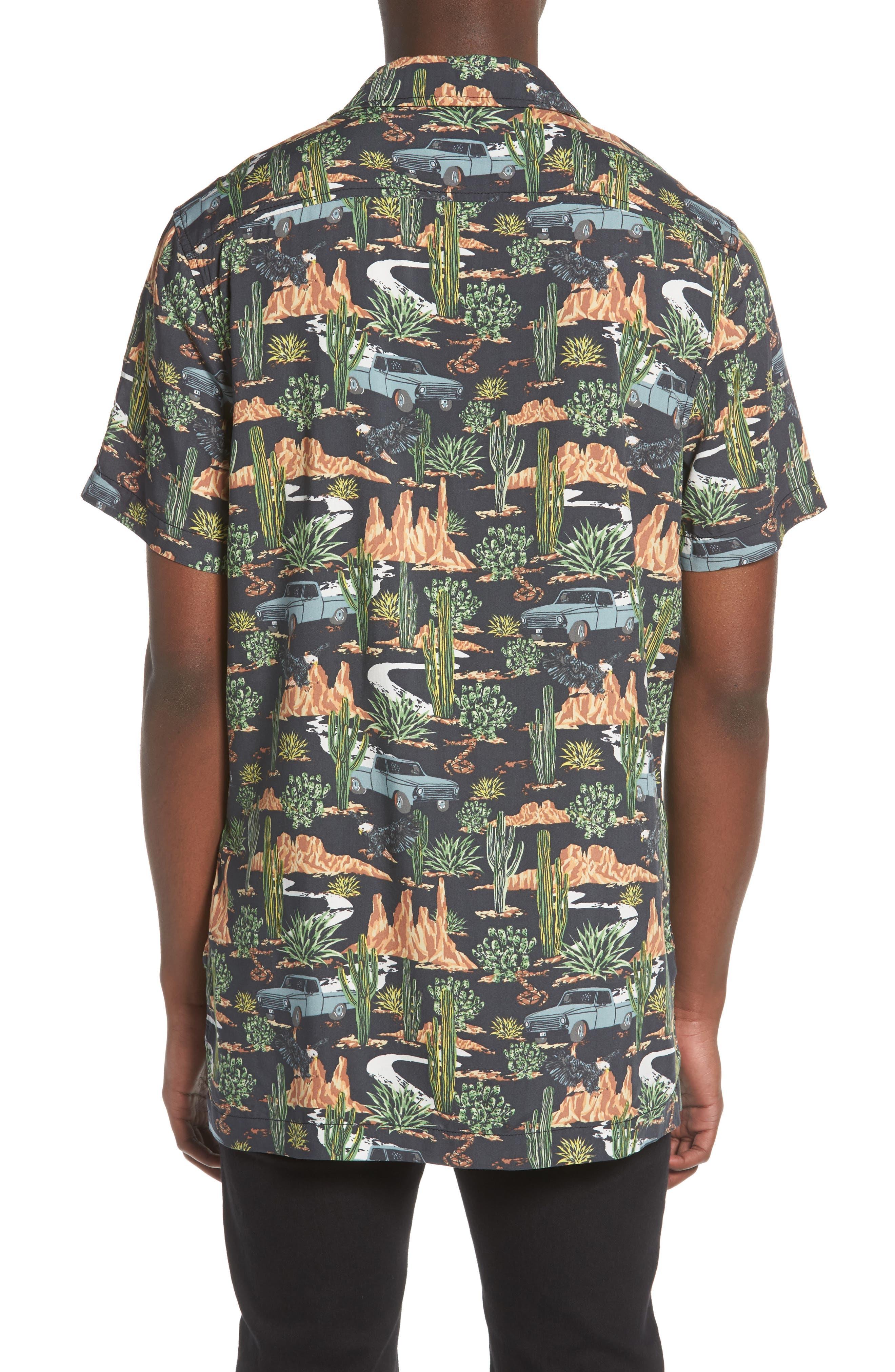 Print Camp Shirt,                             Alternate thumbnail 2, color,                             GREY ON THE ROAD PRINT