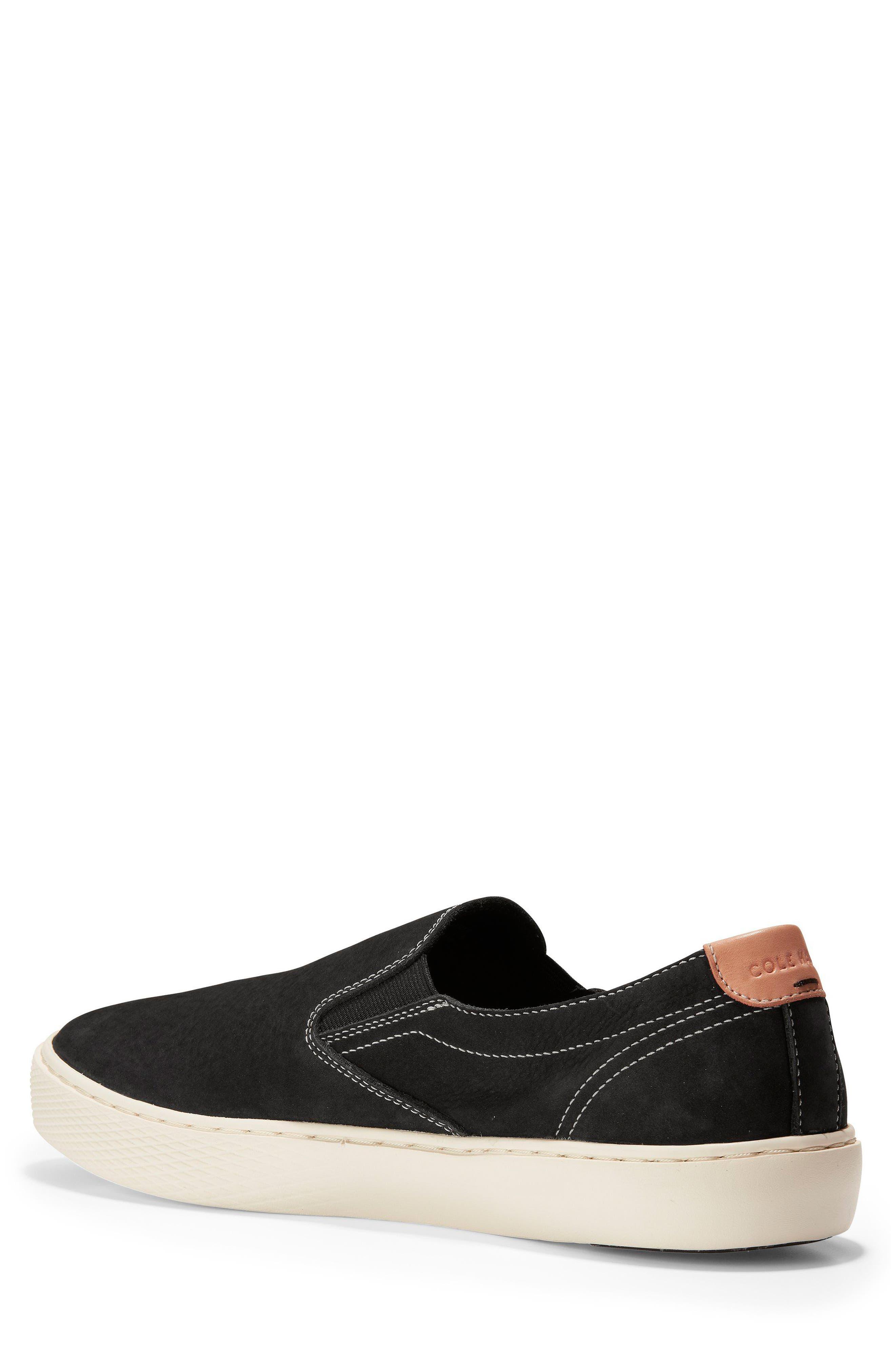GrandPrø Deck Slip-On Sneaker,                             Alternate thumbnail 2, color,                             BLACK NUBUCK